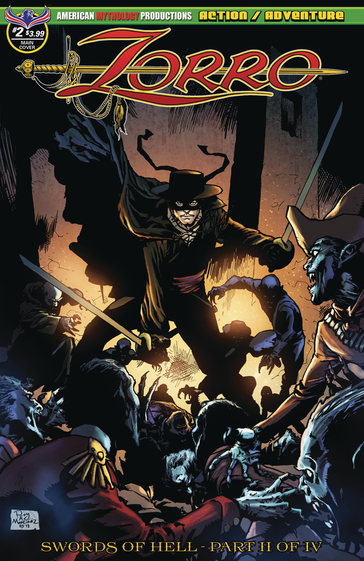 ZORRO SWORDS OF HELL #2 MARTINEZ MAIN CVR