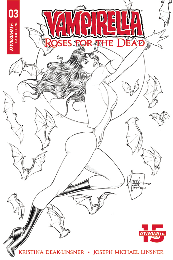 VAMPIRELLA ROSES FOR DEAD #3 (OF 4) 10 COPY INCV TUCCI B&W (
