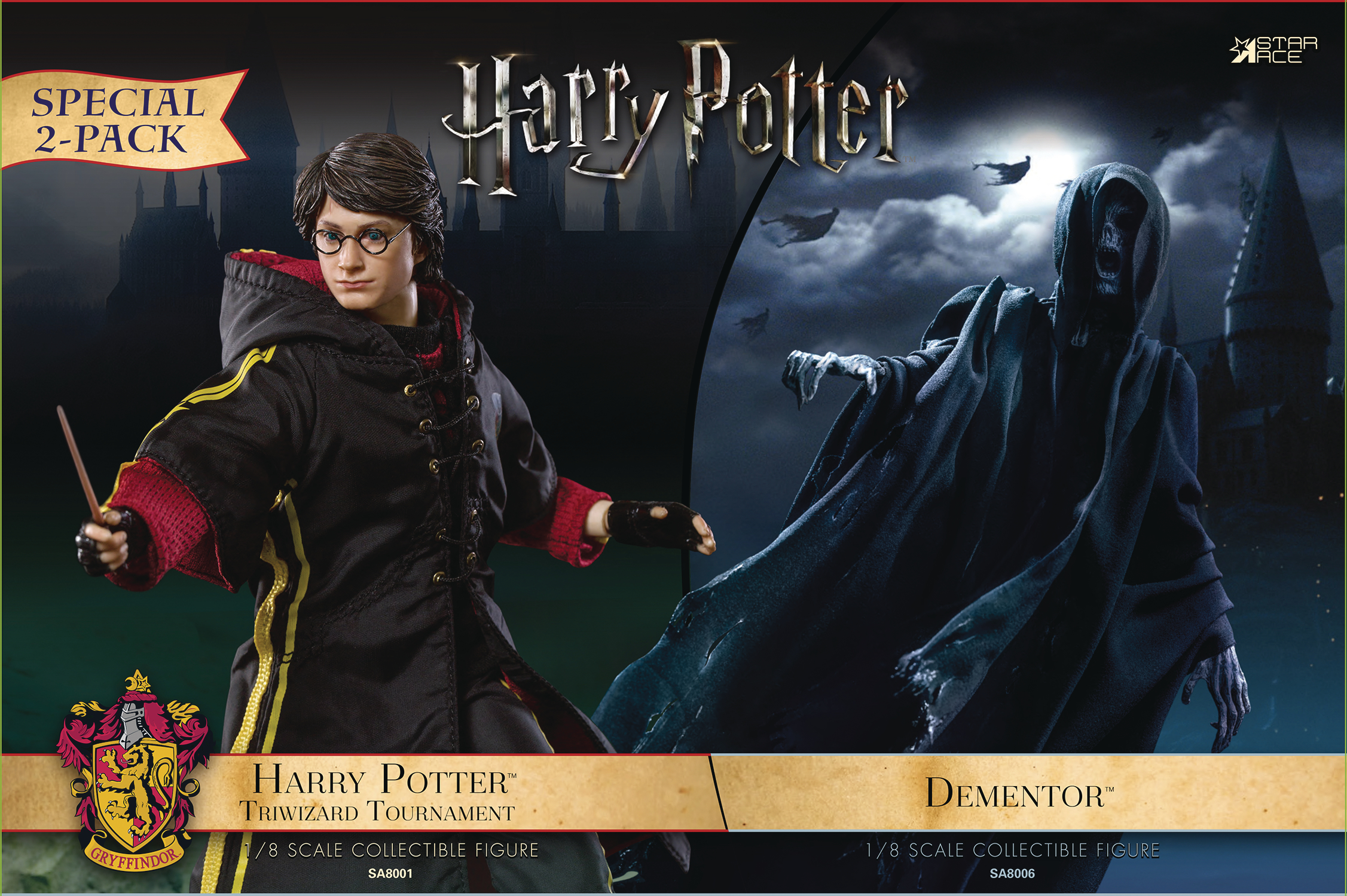 HP & THE GOBLET OF FIRE DEMENTOR W/ HARRY 1/8 COLL AF 2PK (N