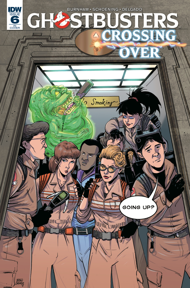 GHOSTBUSTERS CROSSING OVER #6 10 COPY INCV SHEARER