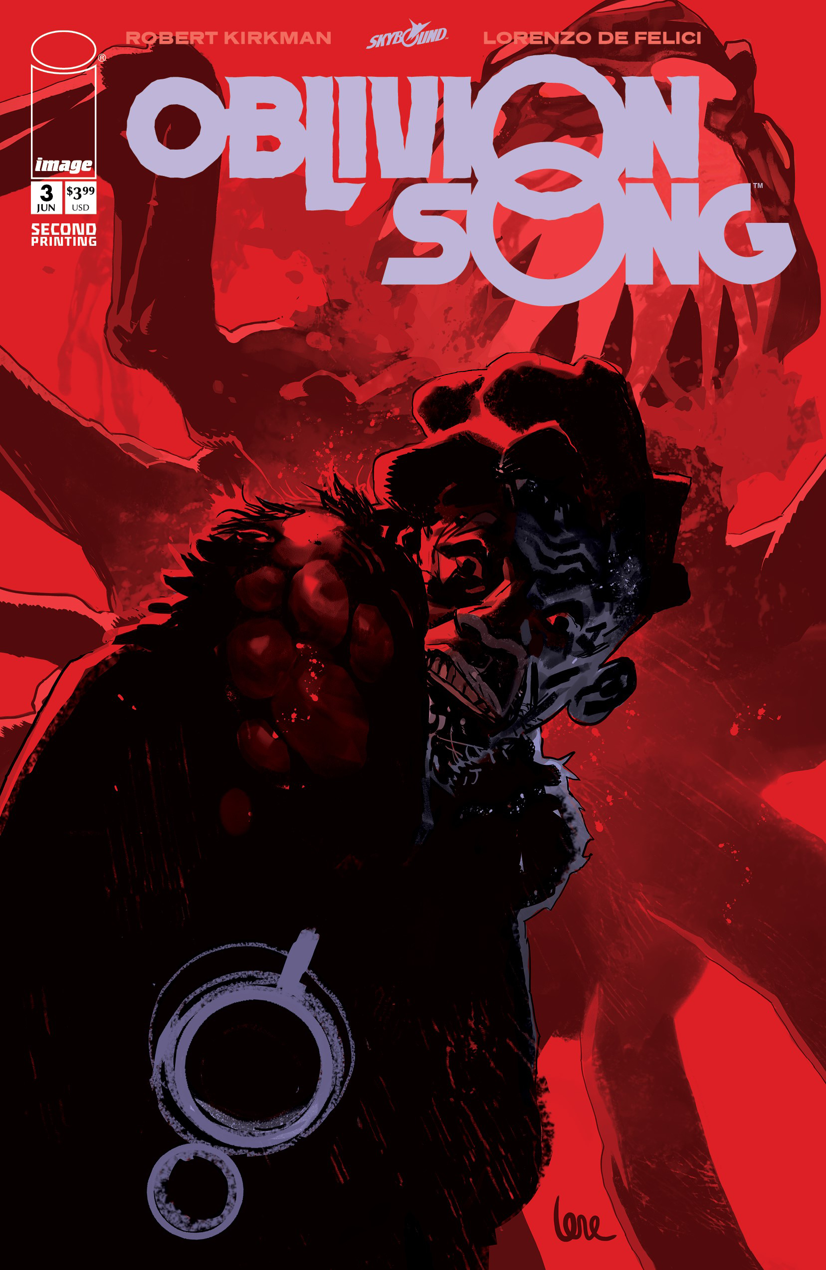 OBLIVION SONG BY KIRKMAN & DE FELICI #3 2ND PTG