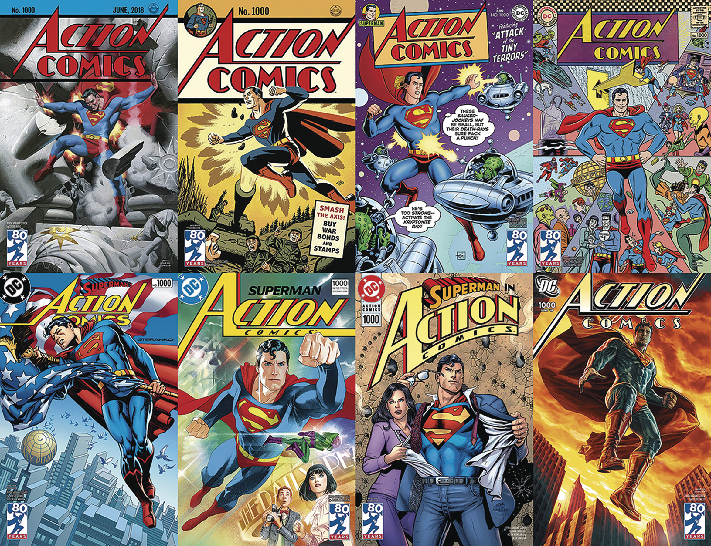 DF ACTION COMICS #1000 JURGENS SGN DECADES COMPLETE