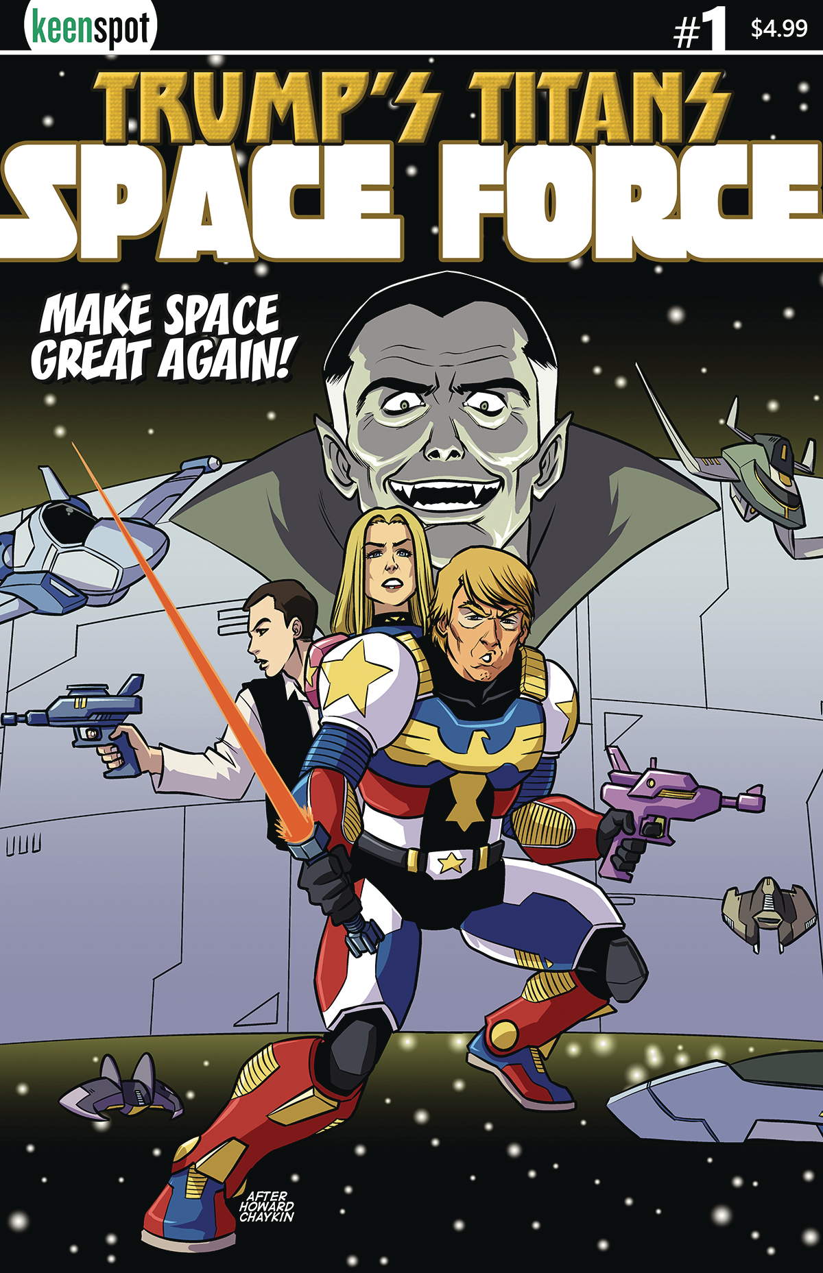 TRUMPS TITANS SPACE FORCE #1 (OF 1)