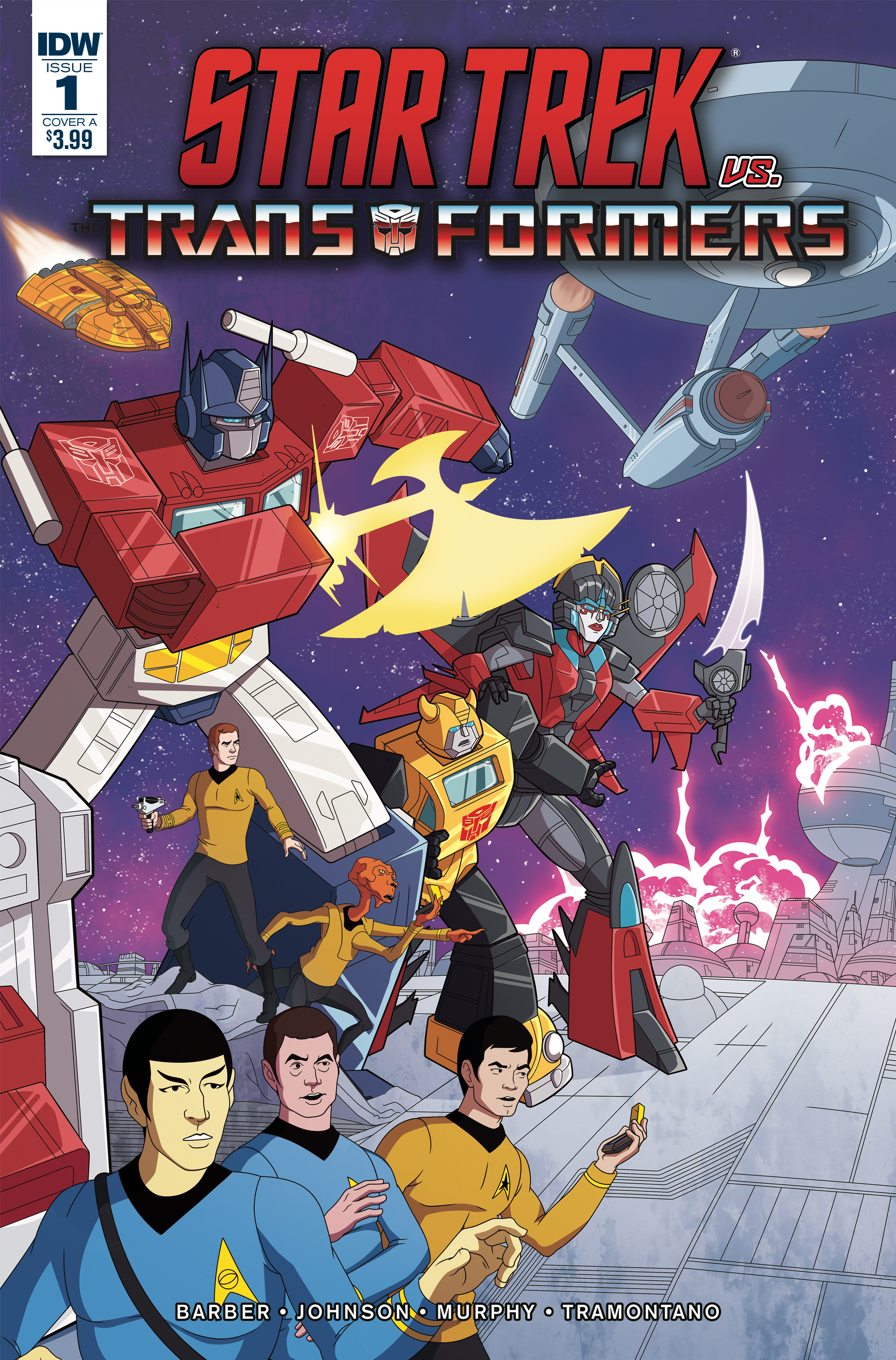 STAR TREK VS TRANSFORMERS #1 (OF 4) CVR A MURPHY