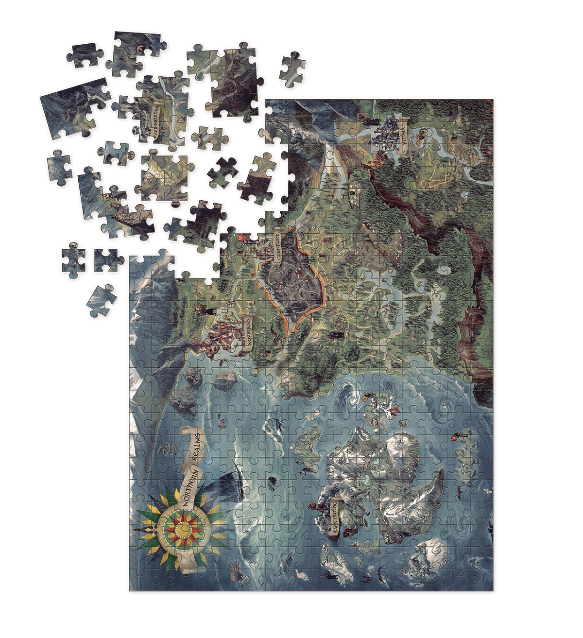 Jul180514 witcher 3 wild hunt witcher world map puzzle previews witcher 3 wild hunt witcher world map puzzle gumiabroncs Choice Image