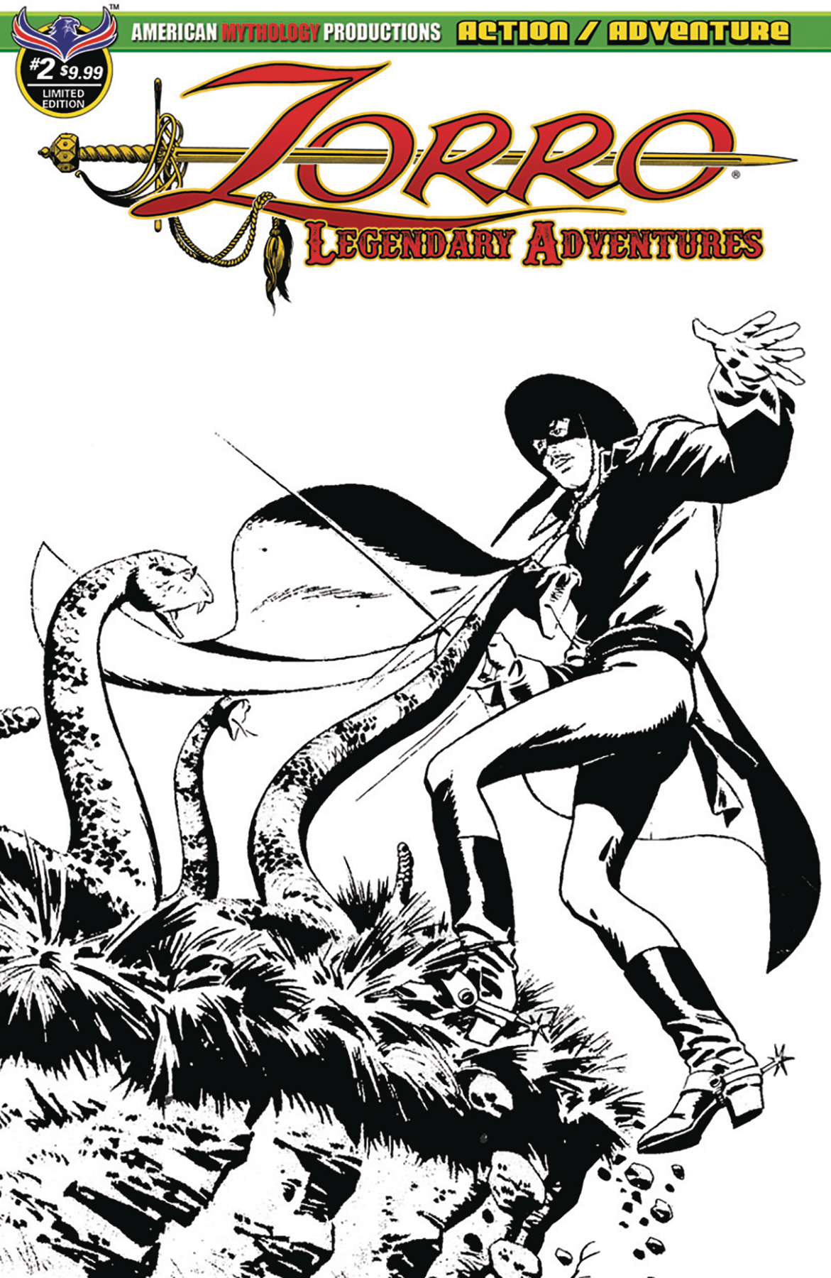 ZORRO LEGENDARY ADVENTURES #2 BLAZING BLADES OF ZORRO LTD ED