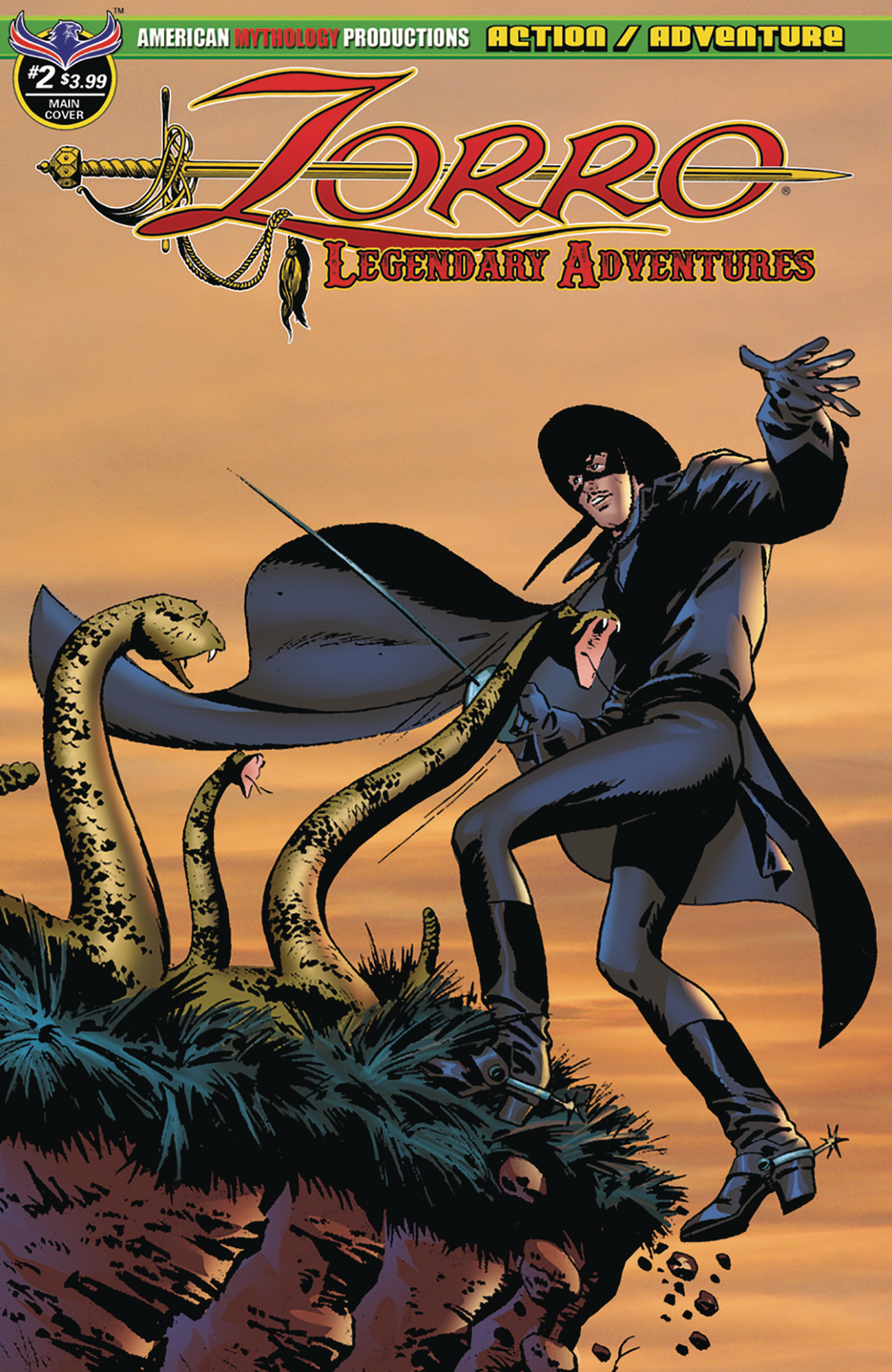 ZORRO LEGENDARY ADVENTURES #2 MAIN CVR