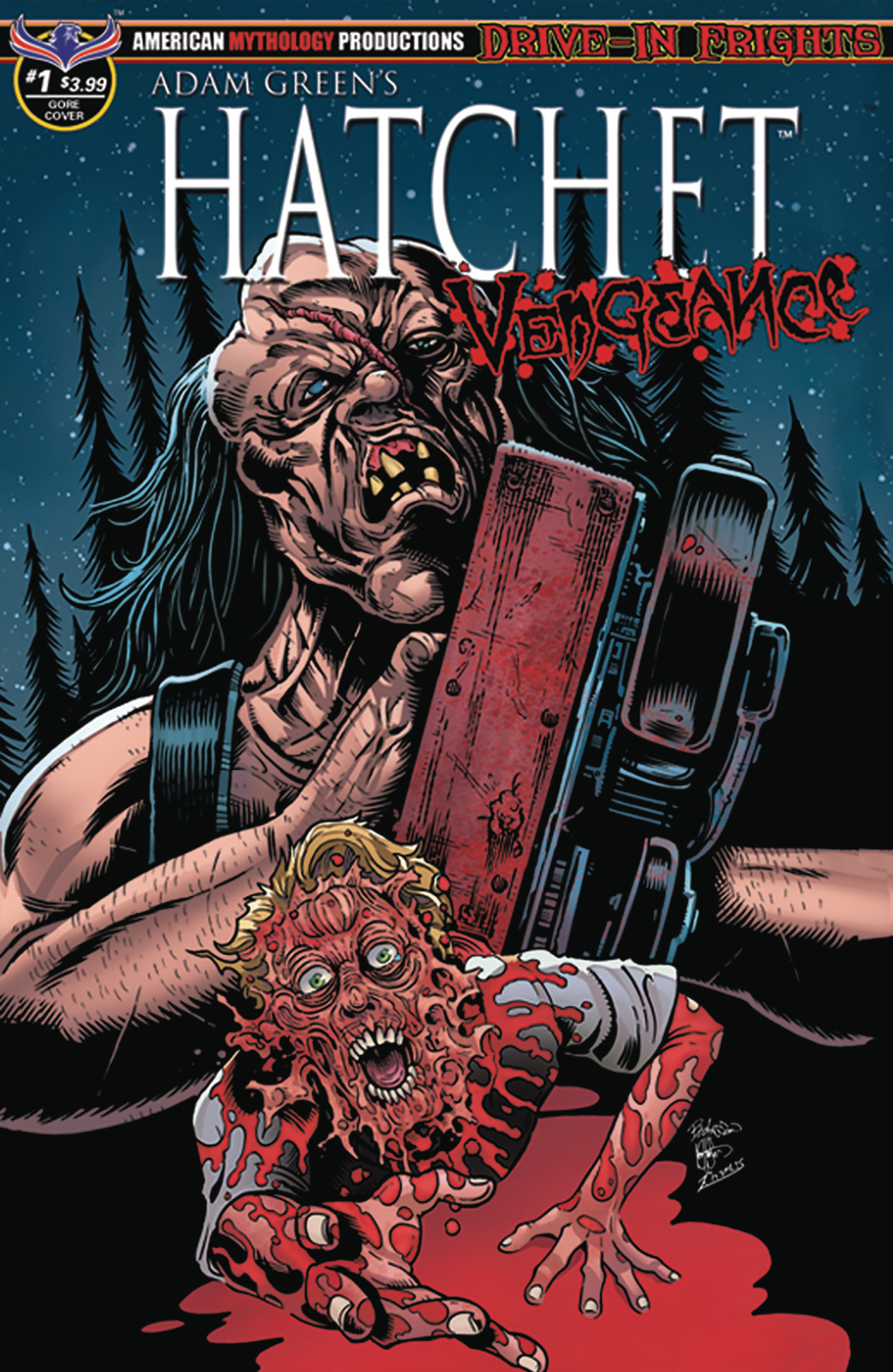 HATCHET VENGEANCE #1 HASSON BLOOD & GORE CVR