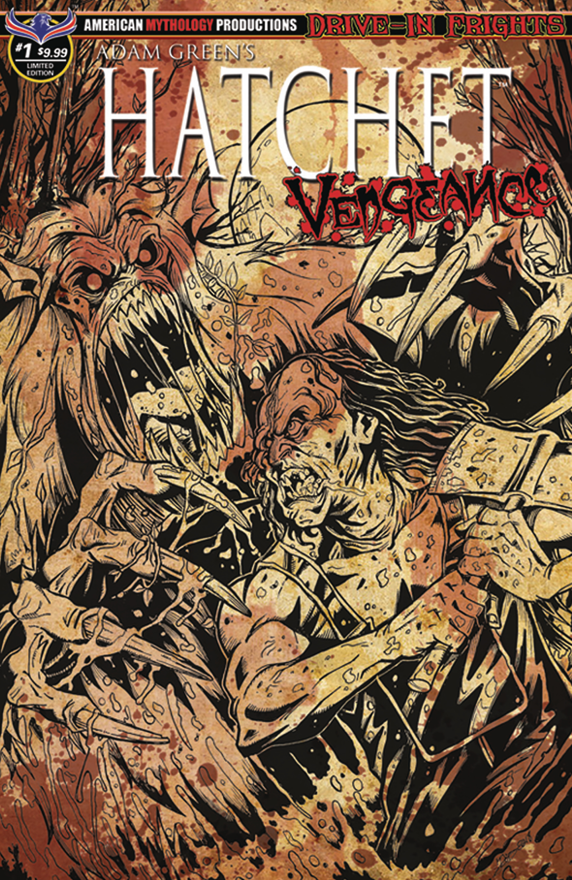 HATCHET VENGEANCE #1 LTD ED BLOODY HORROR CVR