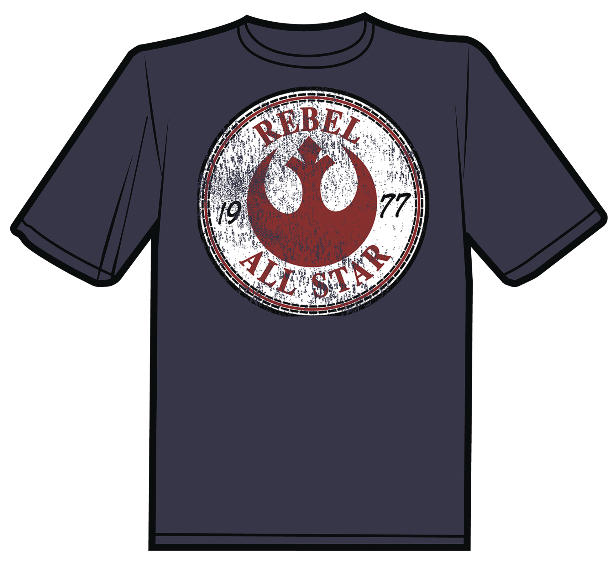 REBEL ALL-STARS VINTAGE DISTRESSED T/S SM