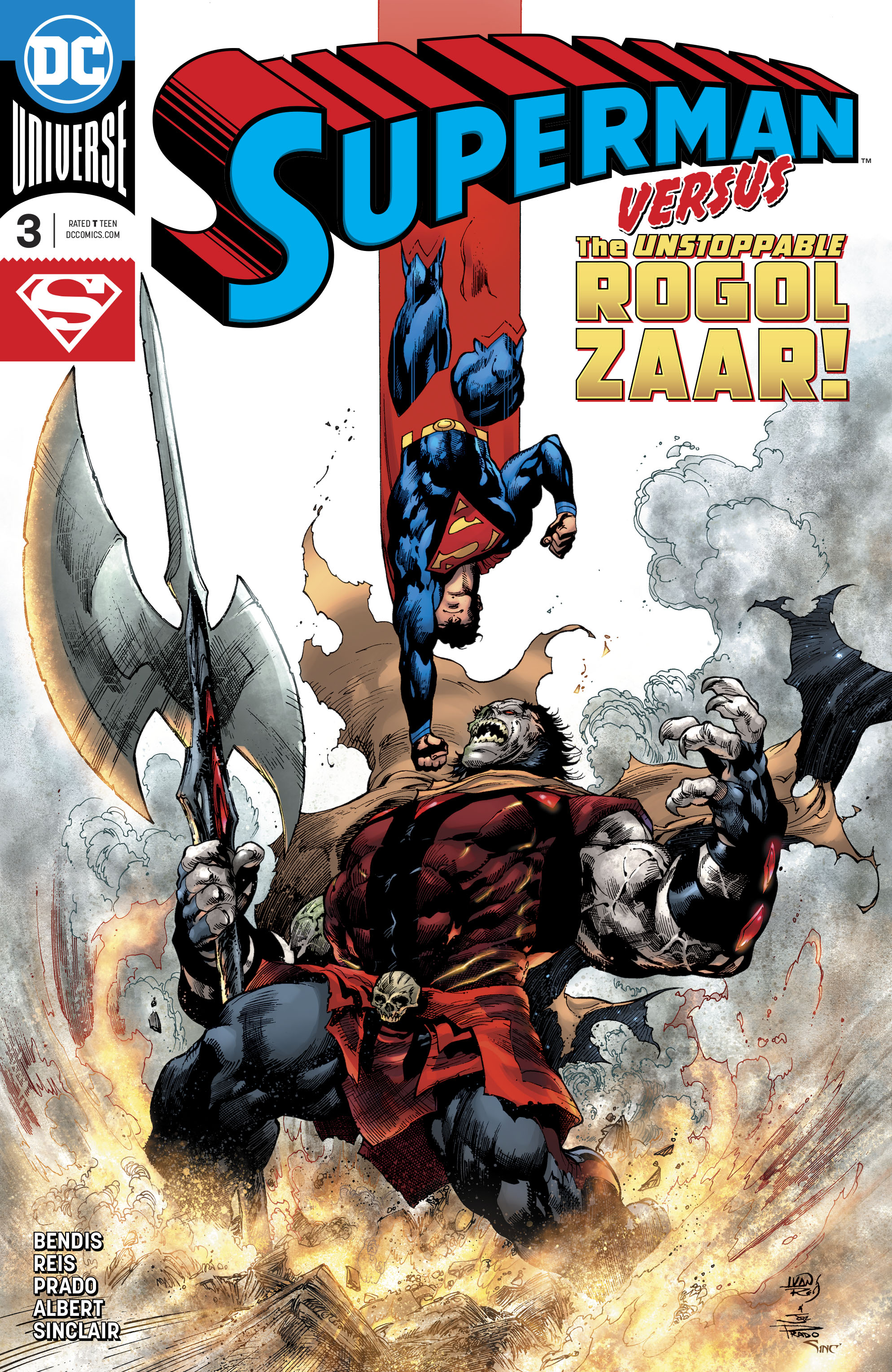 Capa de Superman #3, destaque do Amálgama, por Ivan Reis e Joe Prado.