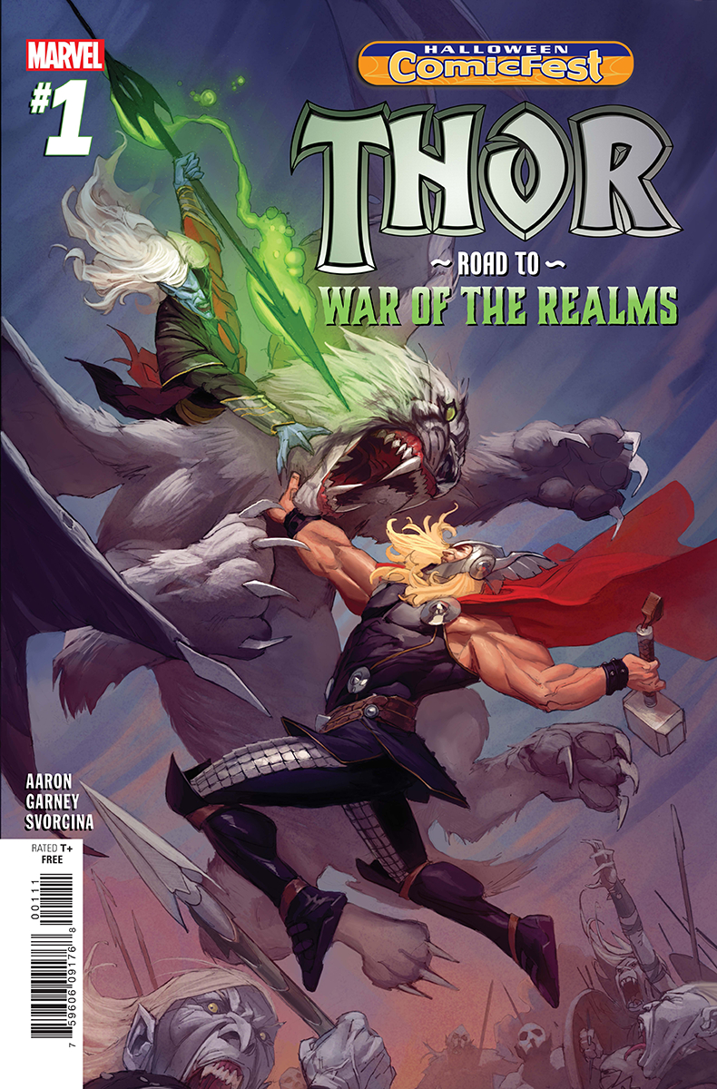 HCF 2018 THOR ROAD TO WAR OF THE REALMS #1 (Net)