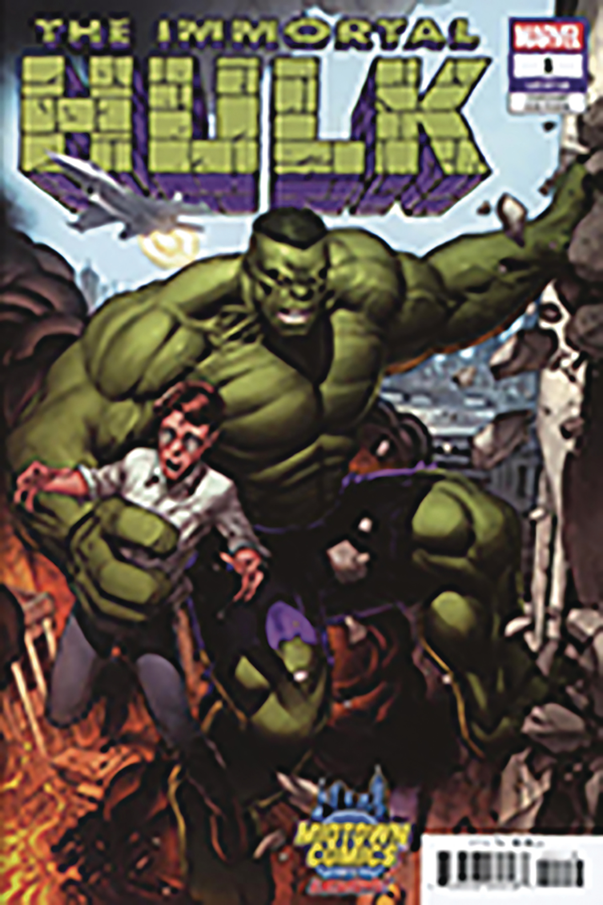 DF IMMORTAL HULK #1 KEOWN MIDTOWN EXC