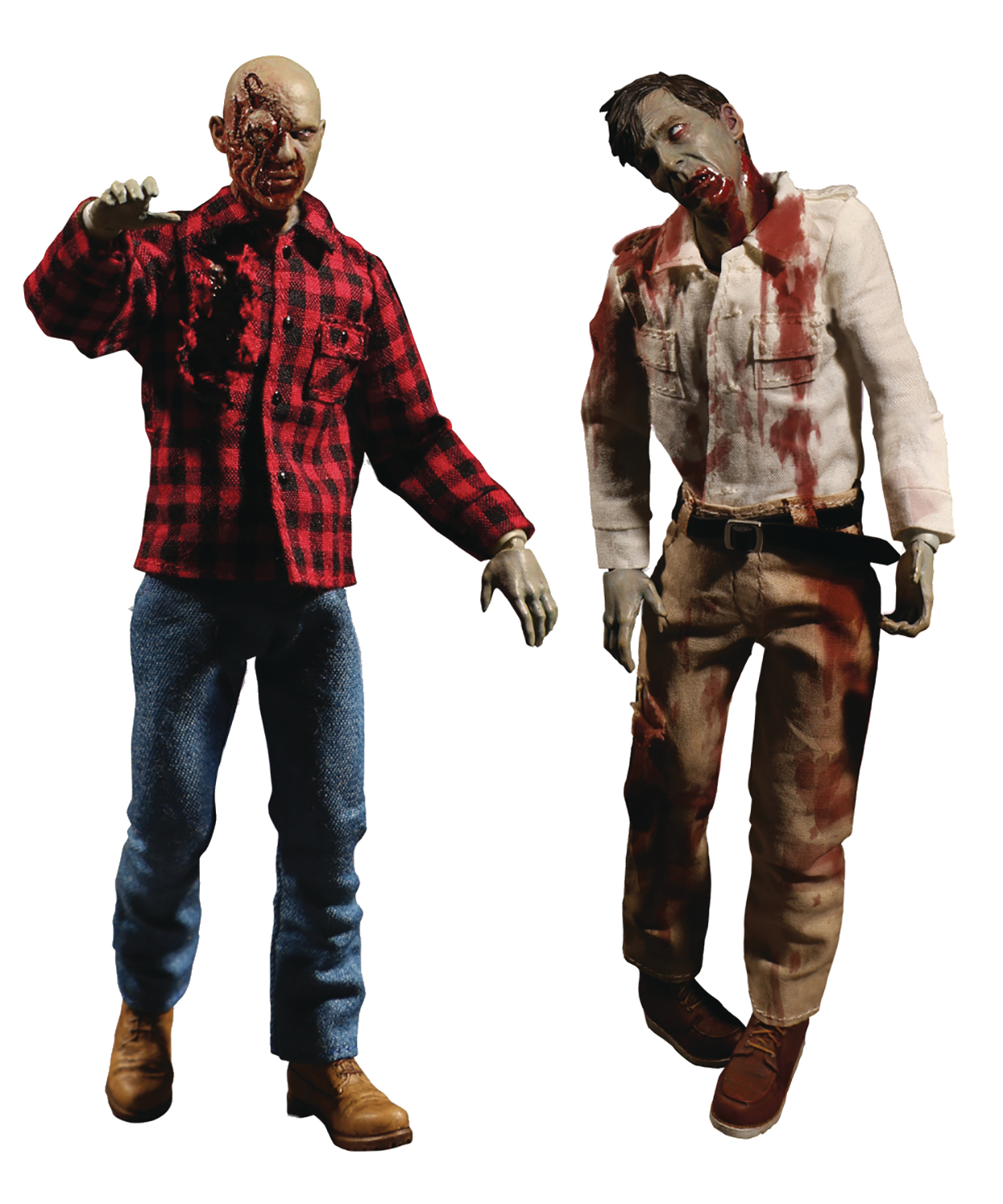 ONE-12 COLLECTIVE DAWN OF DEAD FLY BOY & PLAID ZOMBIE AF 2PK