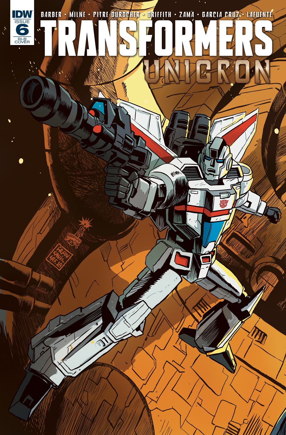 TRANSFORMERS UNICRON #6 (OF 6) 20 COPY INCV FRANCAVILLA (NET