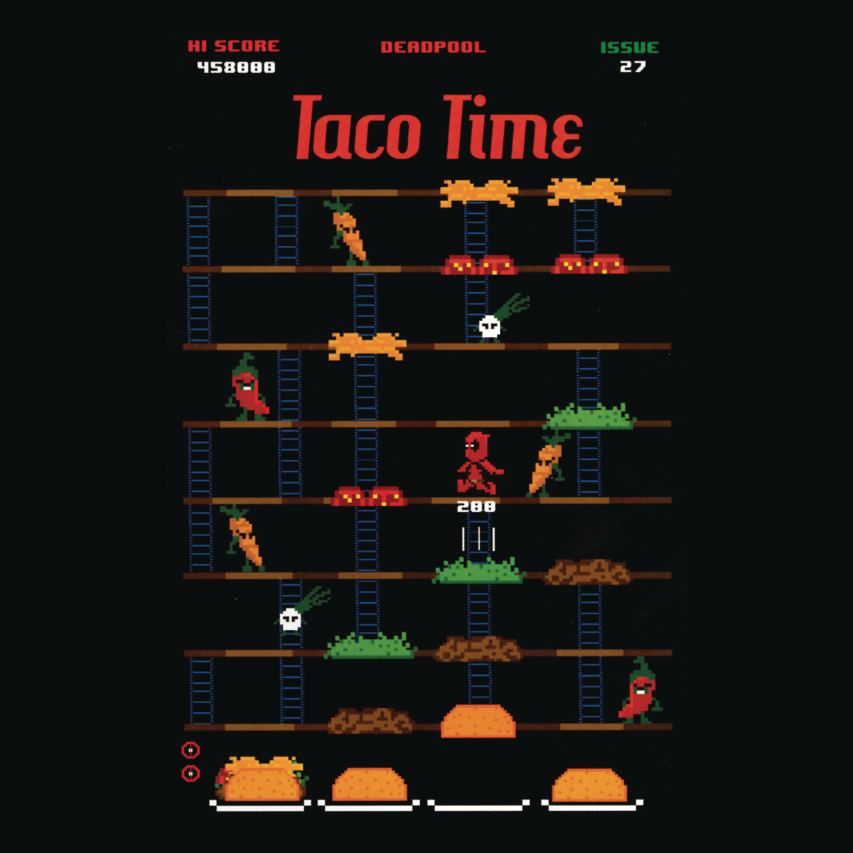 DEADPOOL TACO TIME T/S MED