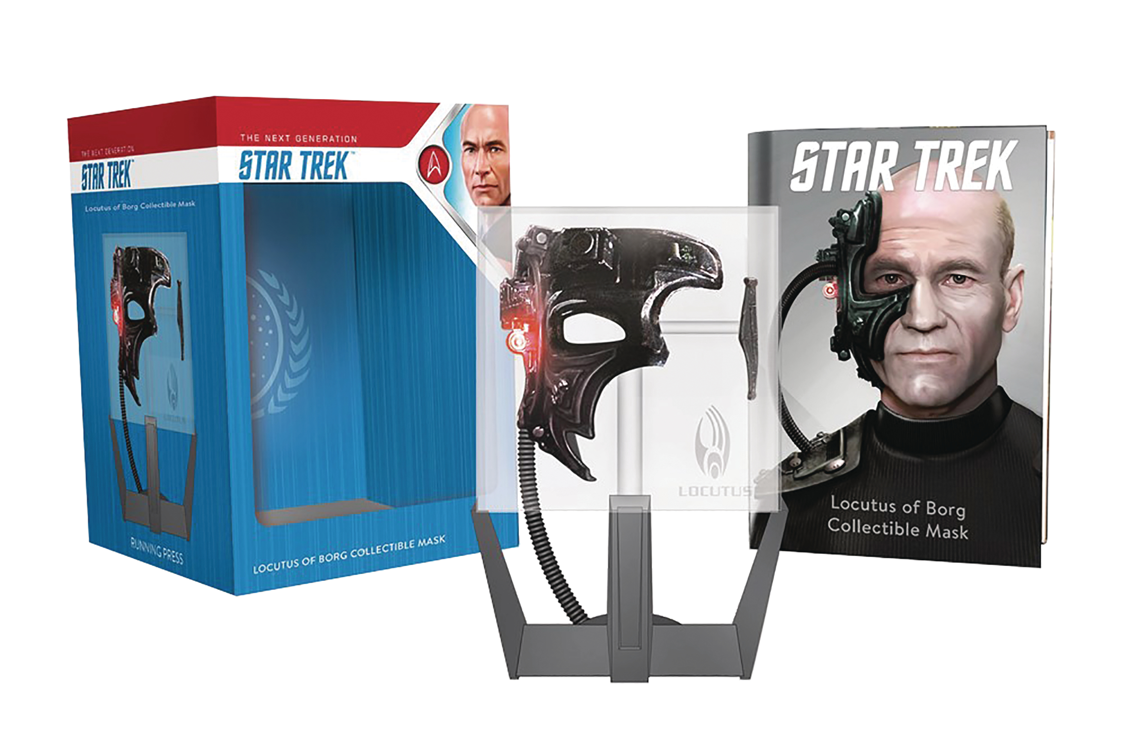 STAR TREK LOCUTUS OF BORG COLLECTIBLE MASK W LIGHT SOUND