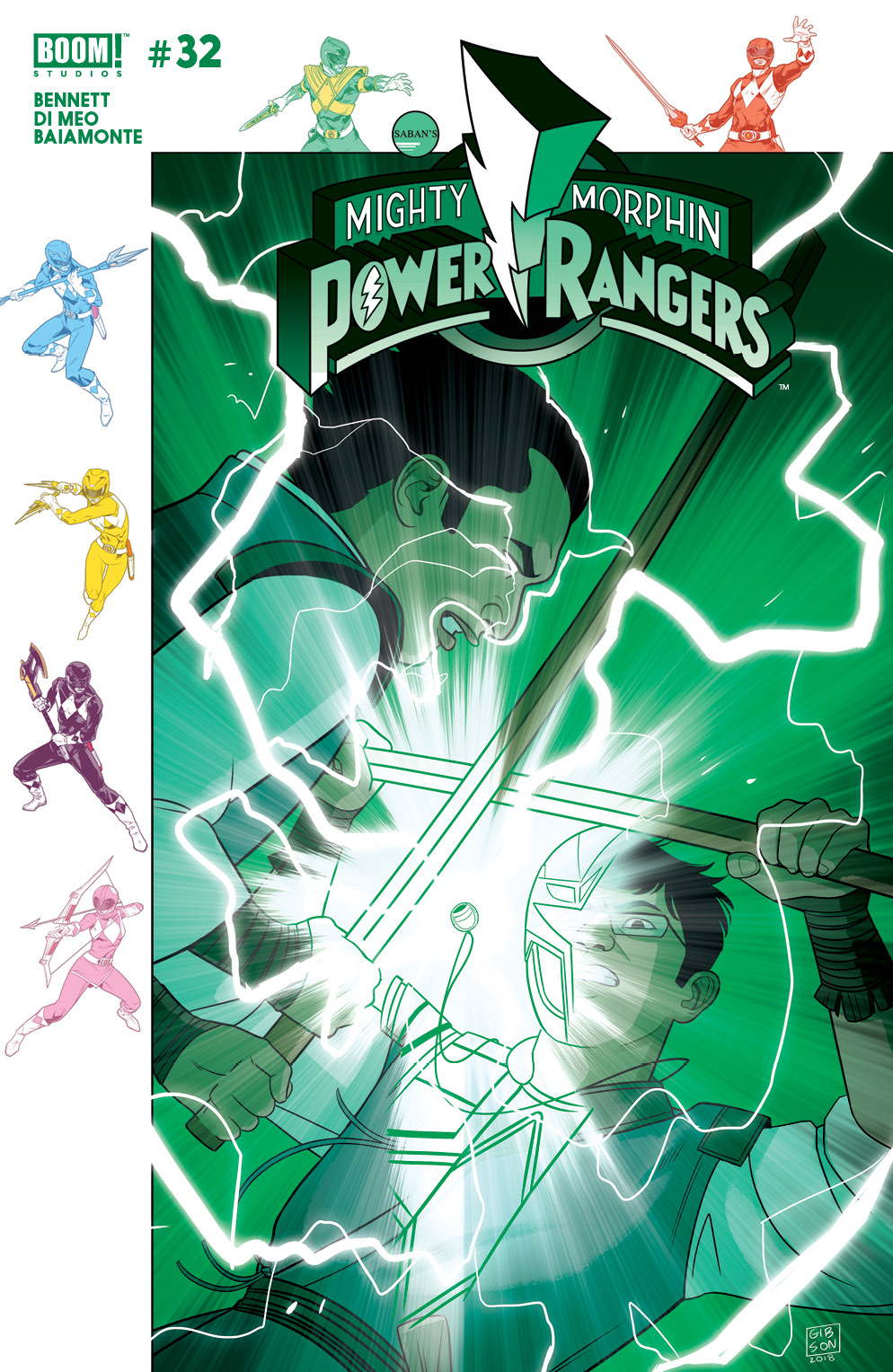 MIGHTY MORPHIN POWER RANGERS #32 SUBSCRIPTION GIBSON VAR