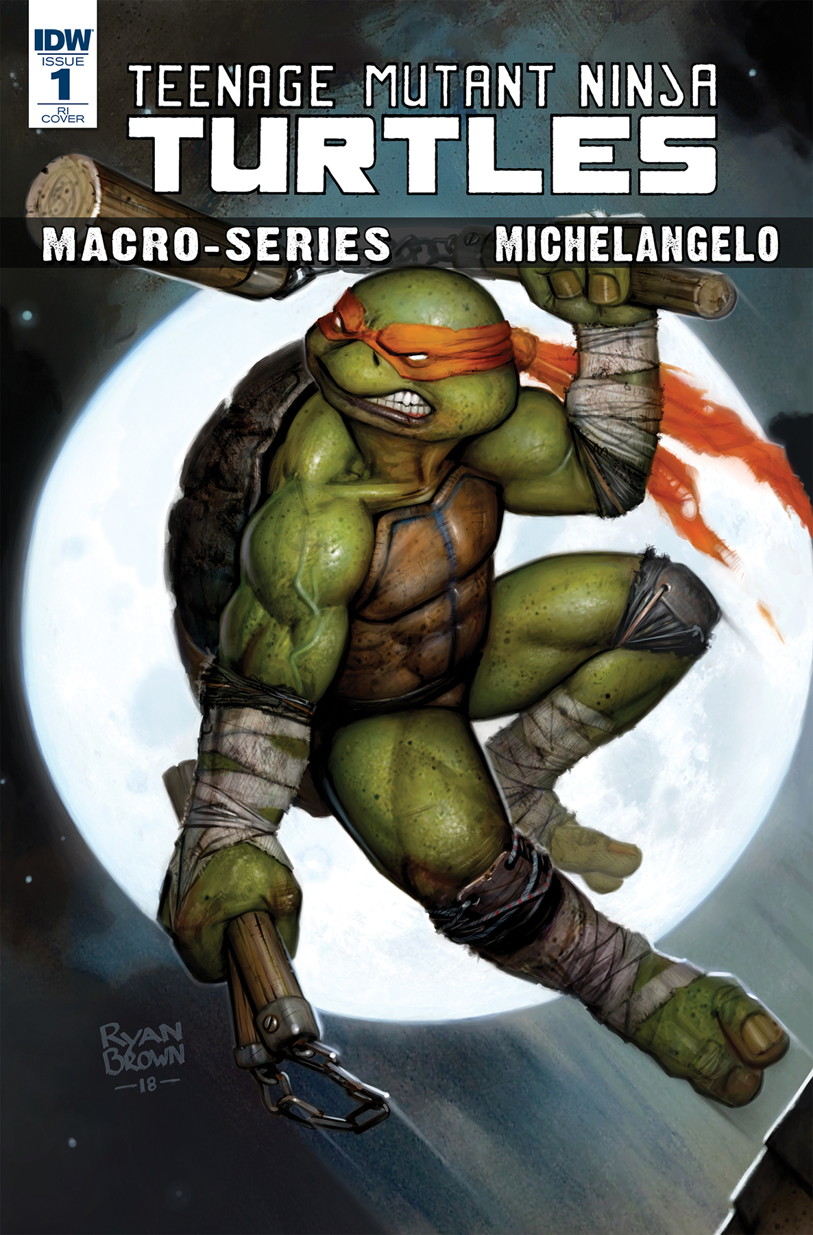 TMNT MACROSERIES MICHELANGELO 10 COPY INCV BROWN