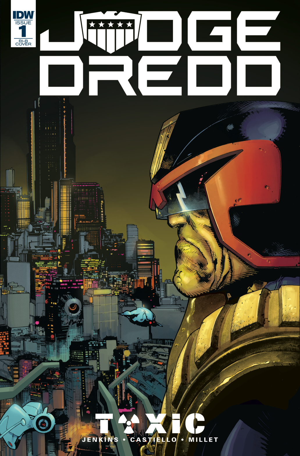 JUDGE DREDD TOXIC #1 20 COPY INCV CASTIELLO