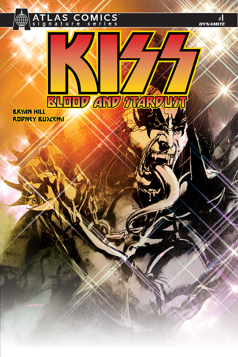 KISS BLOOD STARDUST #1 GENE SIMMONS SGN ATLAS ED