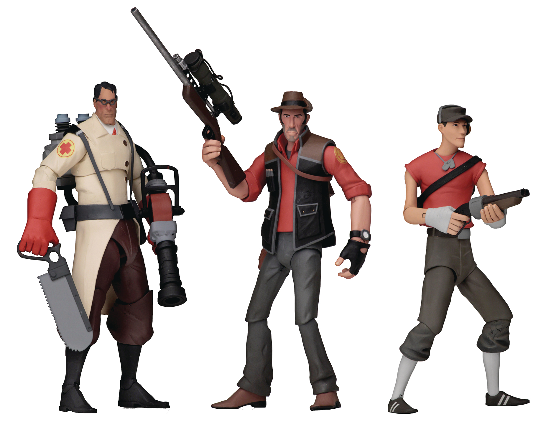TEAM FORTRESS SERIES 4 RED 7IN SCALE AF ASST