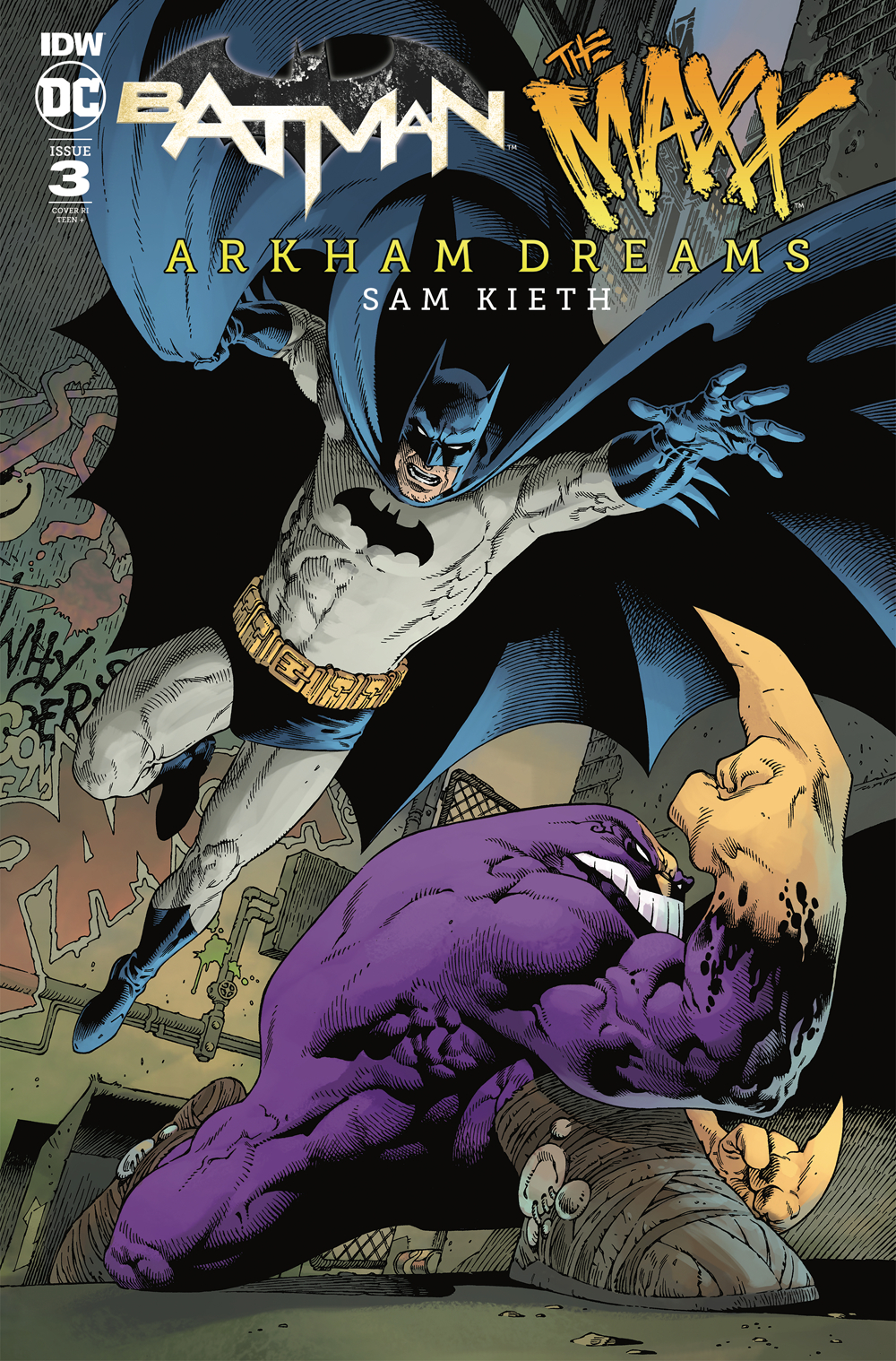 BATMAN THE MAXX ARKHAM DREAMS #3 (OF 5) 10 COPY INCV RODRIGU