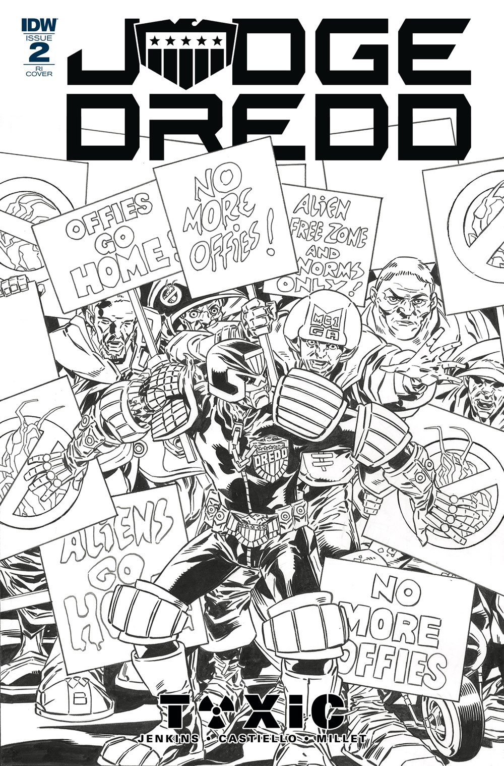 JUDGE DREDD TOXIC #2 10 COPY INCV BUCKINGHAM