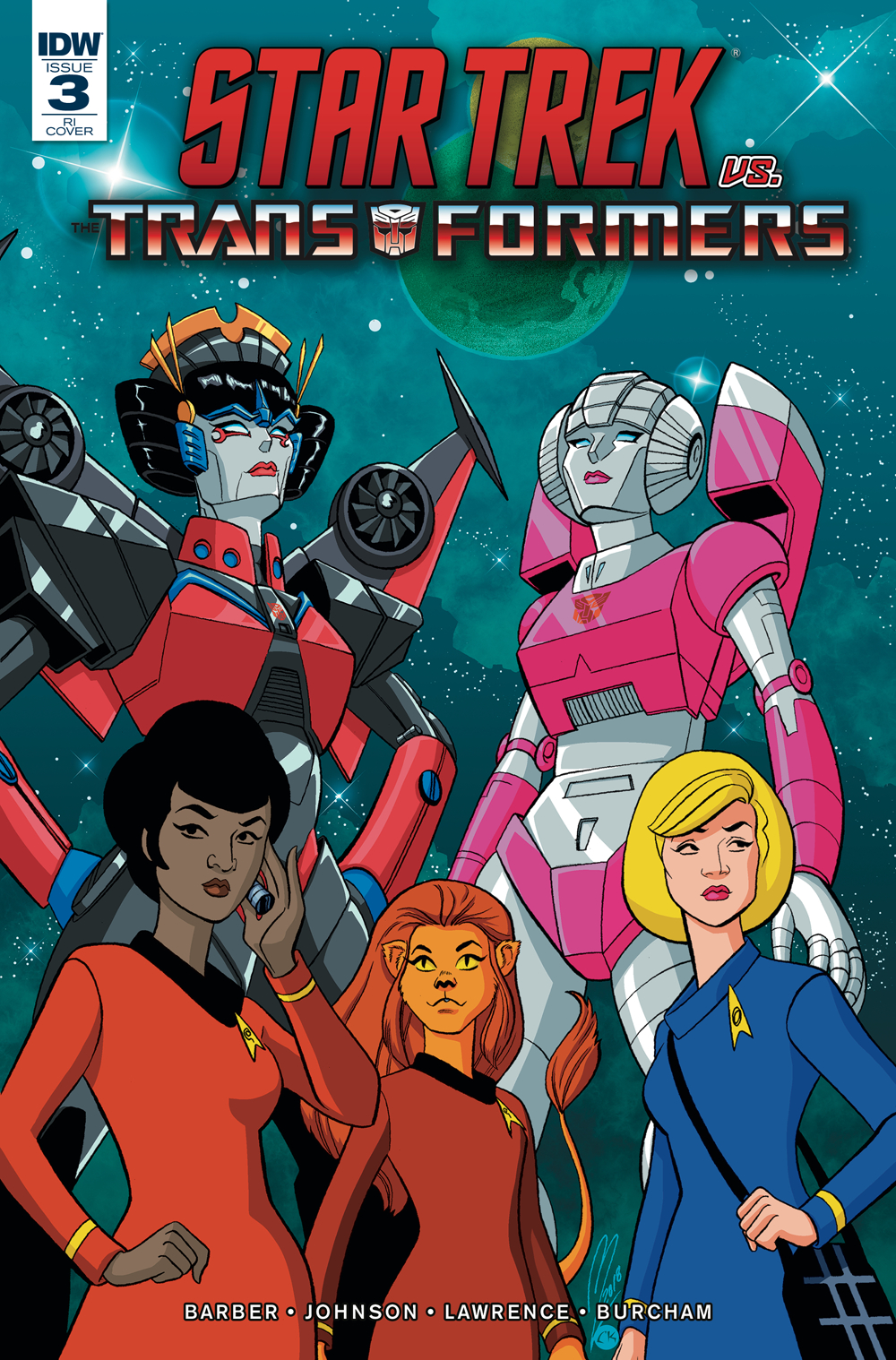 STAR TREK VS TRANSFORMERS #3 (OF 4) 10 COPY INCV LEVENS (NET