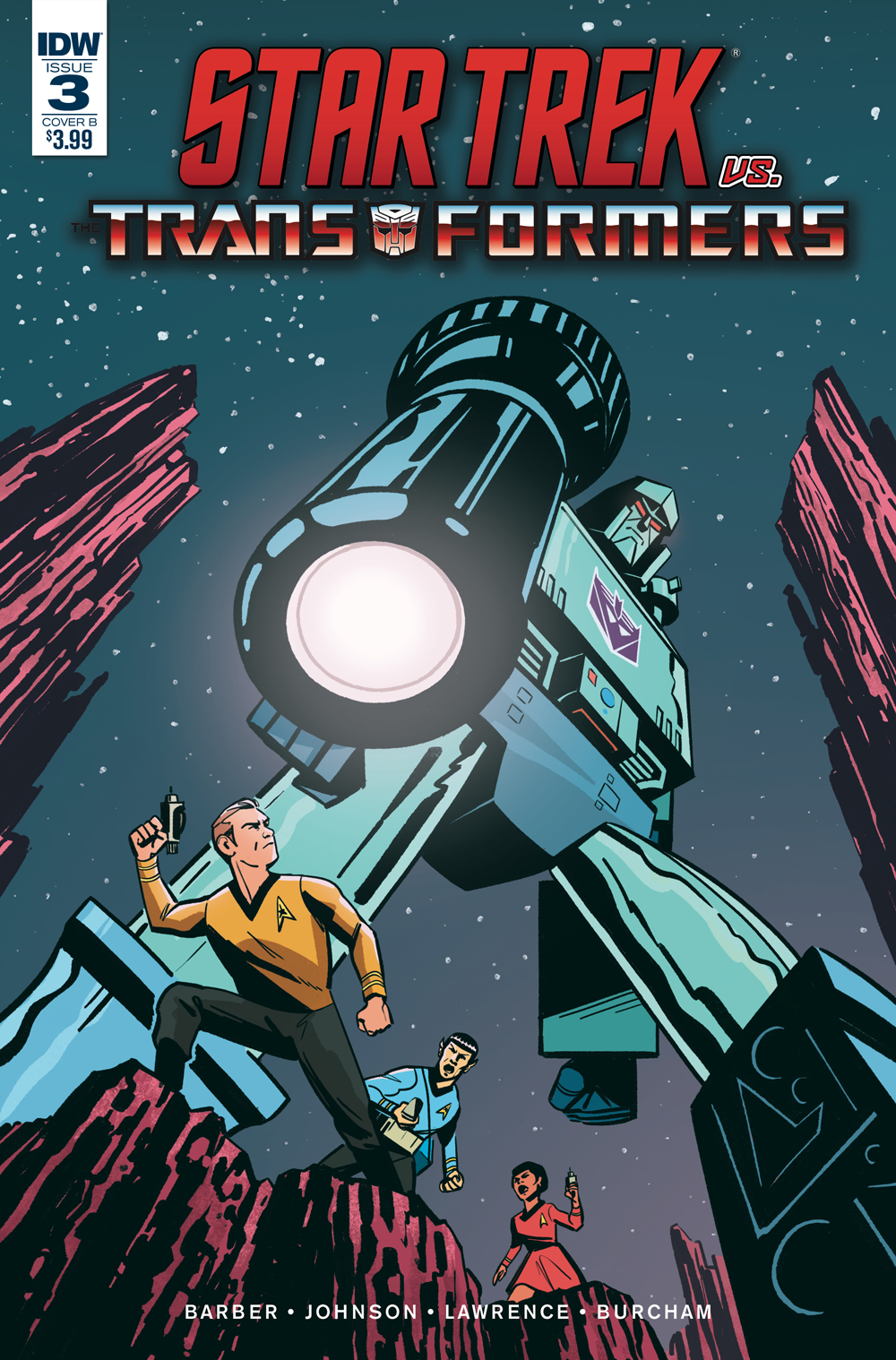 STAR TREK VS TRANSFORMERS #3 (OF 4) CVR B FULLERTON