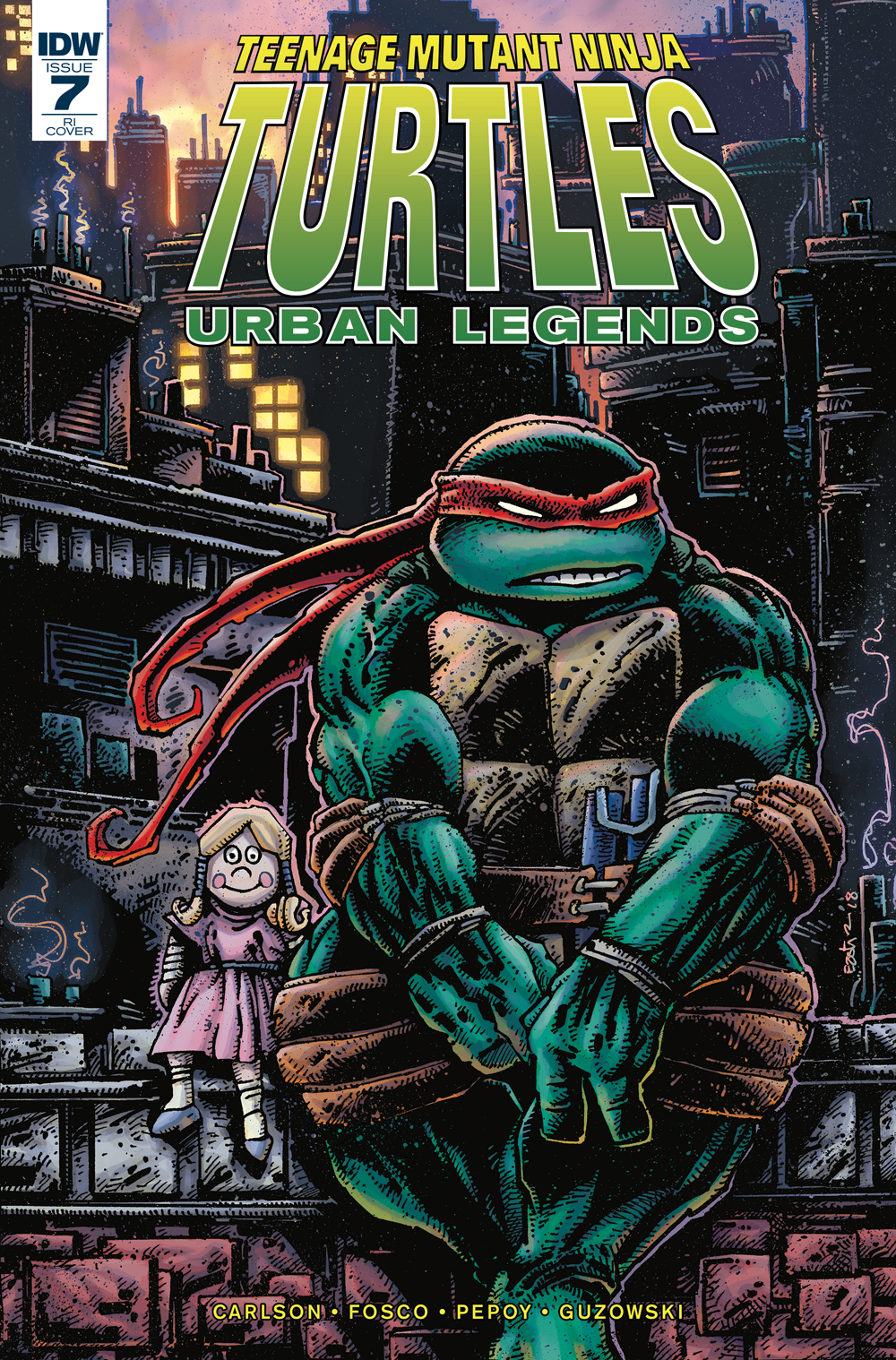 TMNT URBAN LEGENDS #7 10 COPY INCV EASTMAN