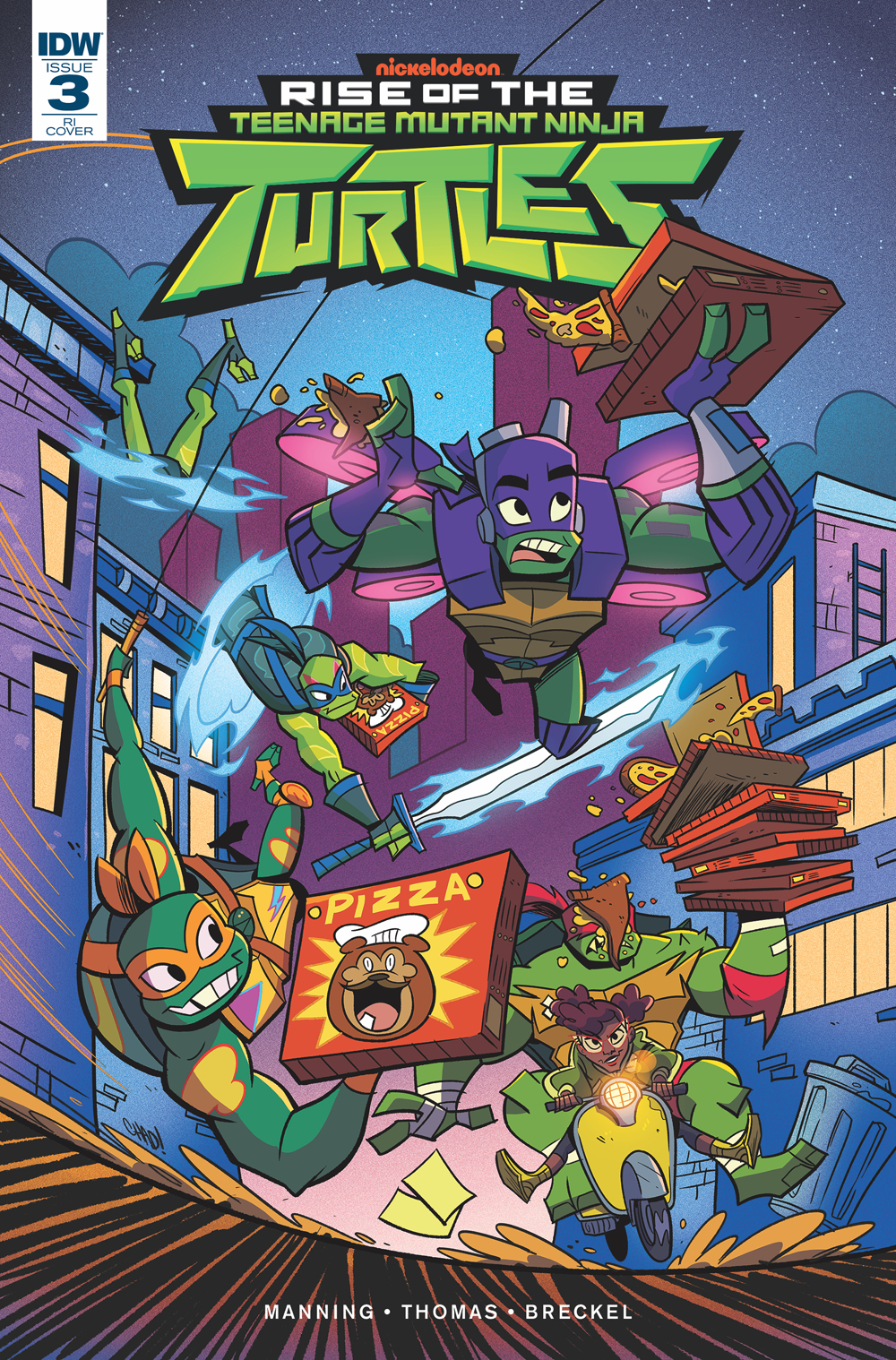 RISE OF THE TMNT #3 10 COPY INCV THOMAS