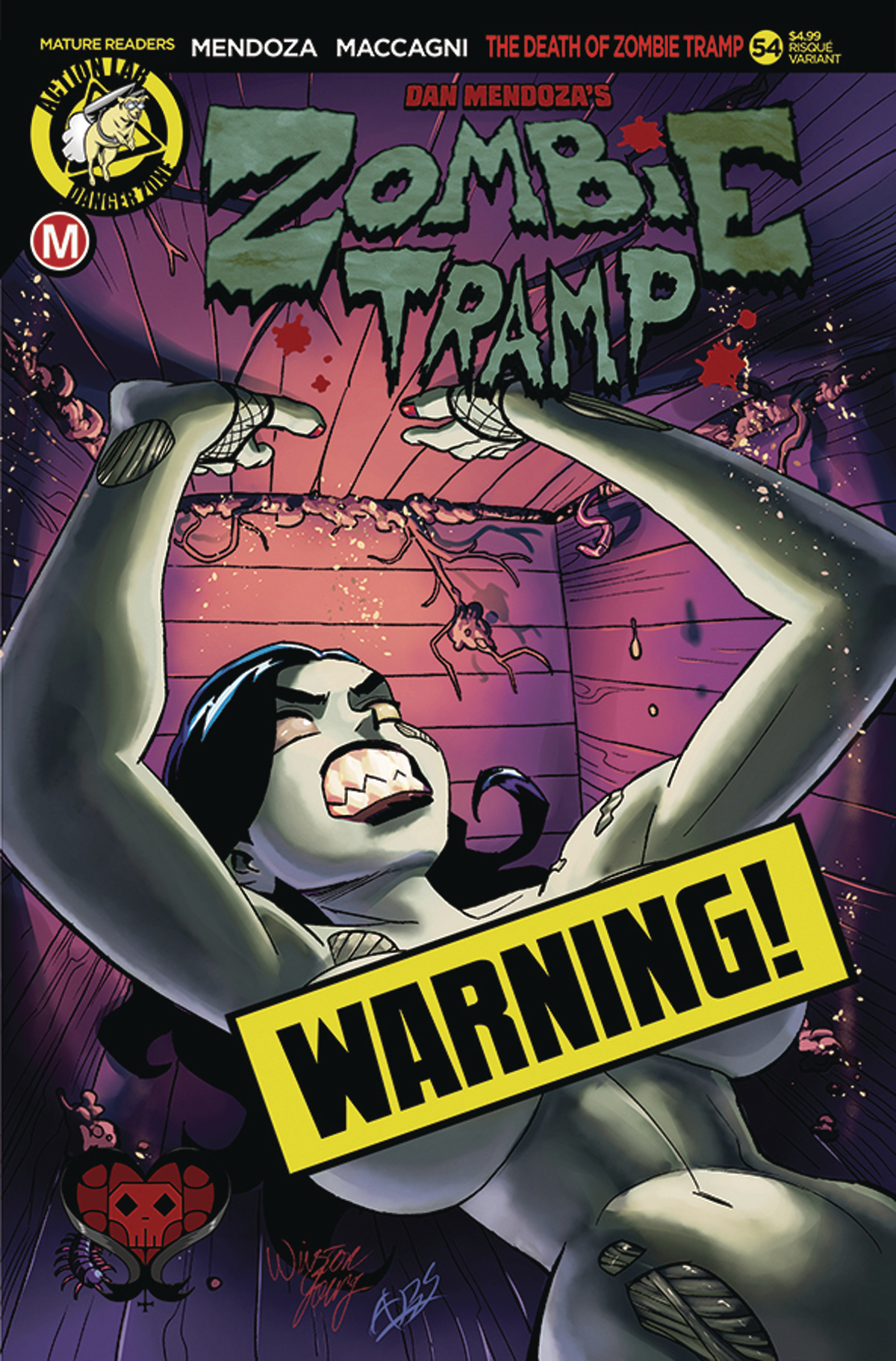 ZOMBIE TRAMP ONGOING #54 CVR B WINSTON YOUNG RISQUE (MR)