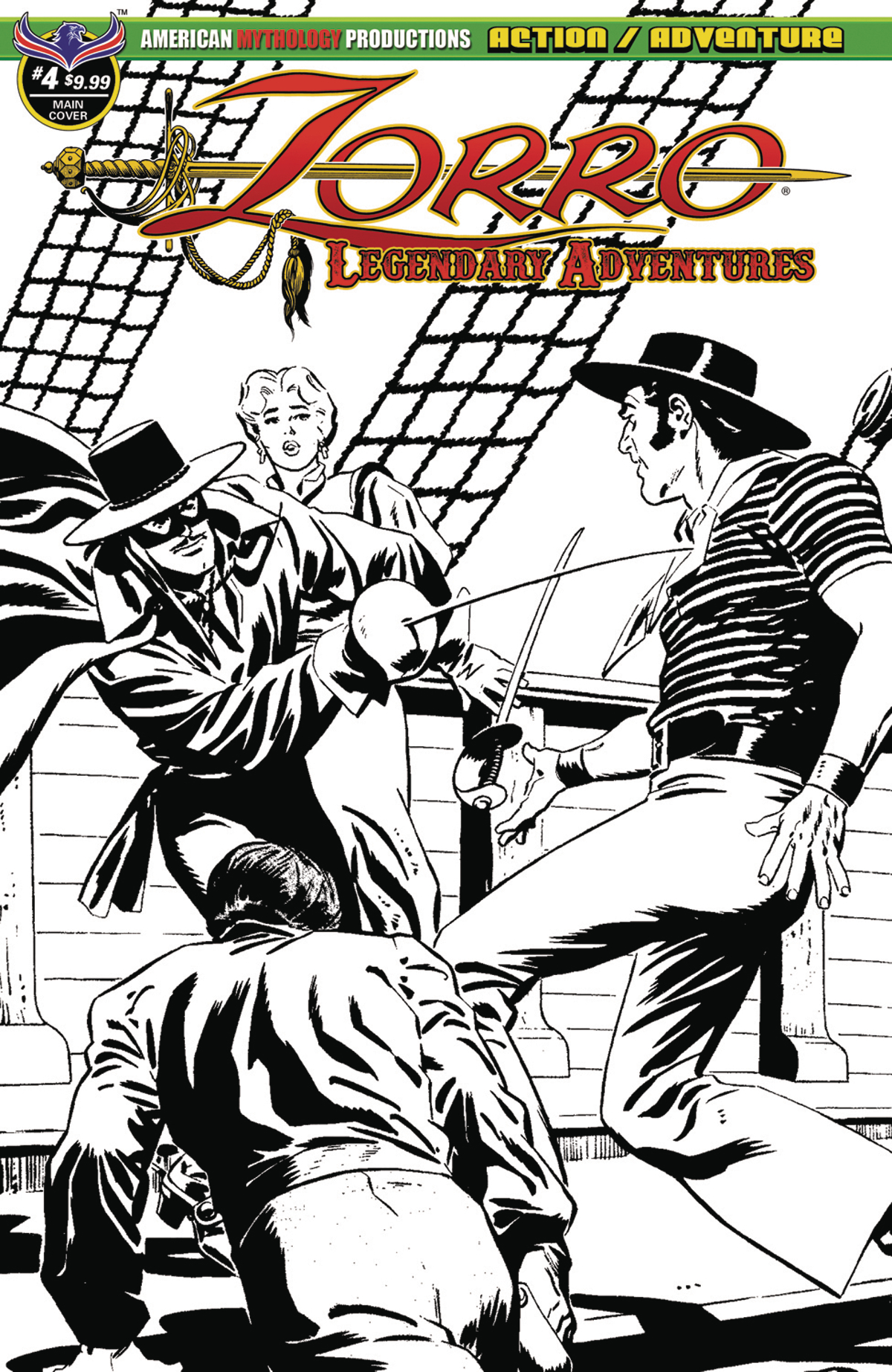 ZORRO LEGENDARY ADVENTURES #4 BLAZING BLADES OF ZORRO LTD ED