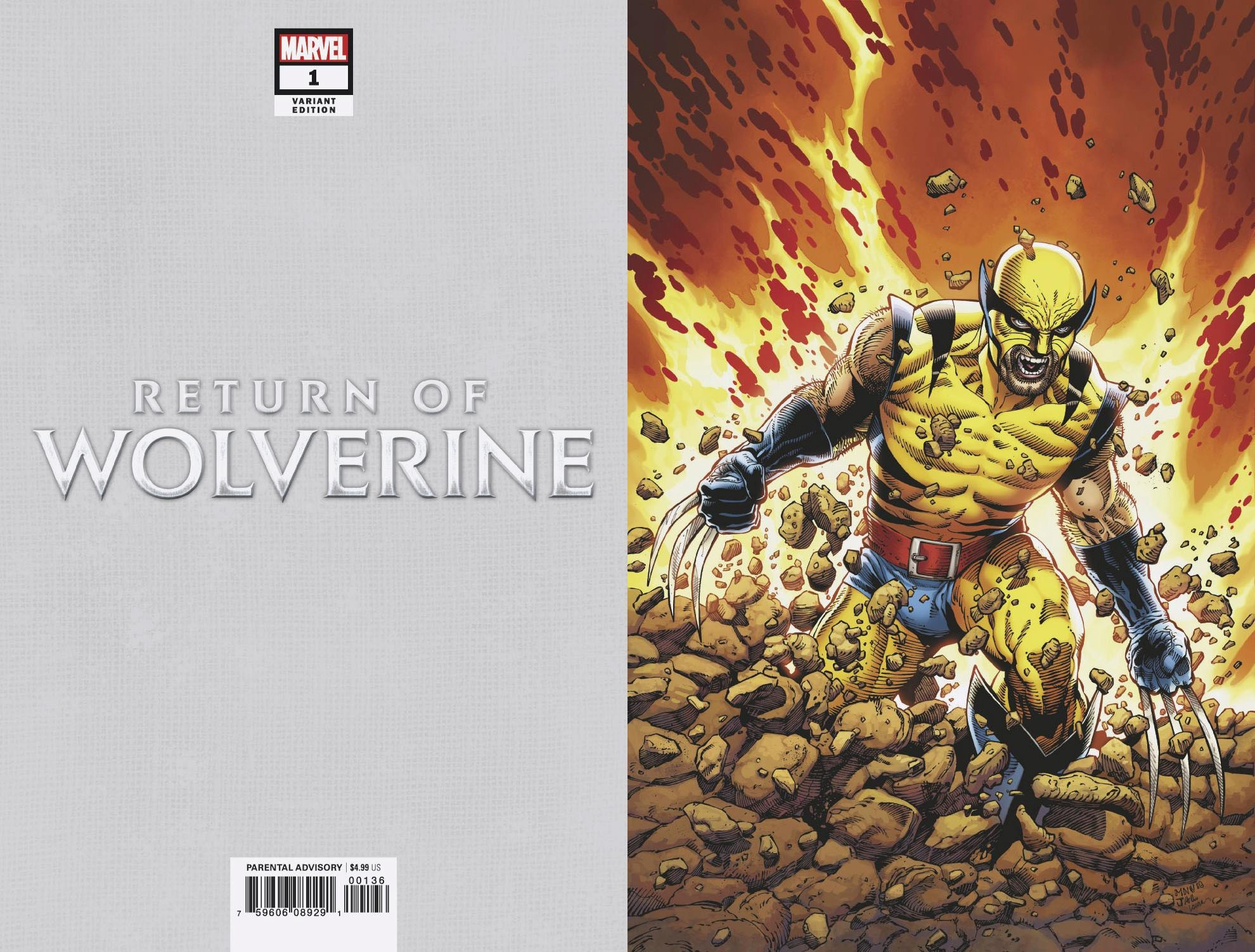 RETURN OF WOLVERINE #1 (OF 5) MCNIVEN ORIG WOLVERINE VIRGIN