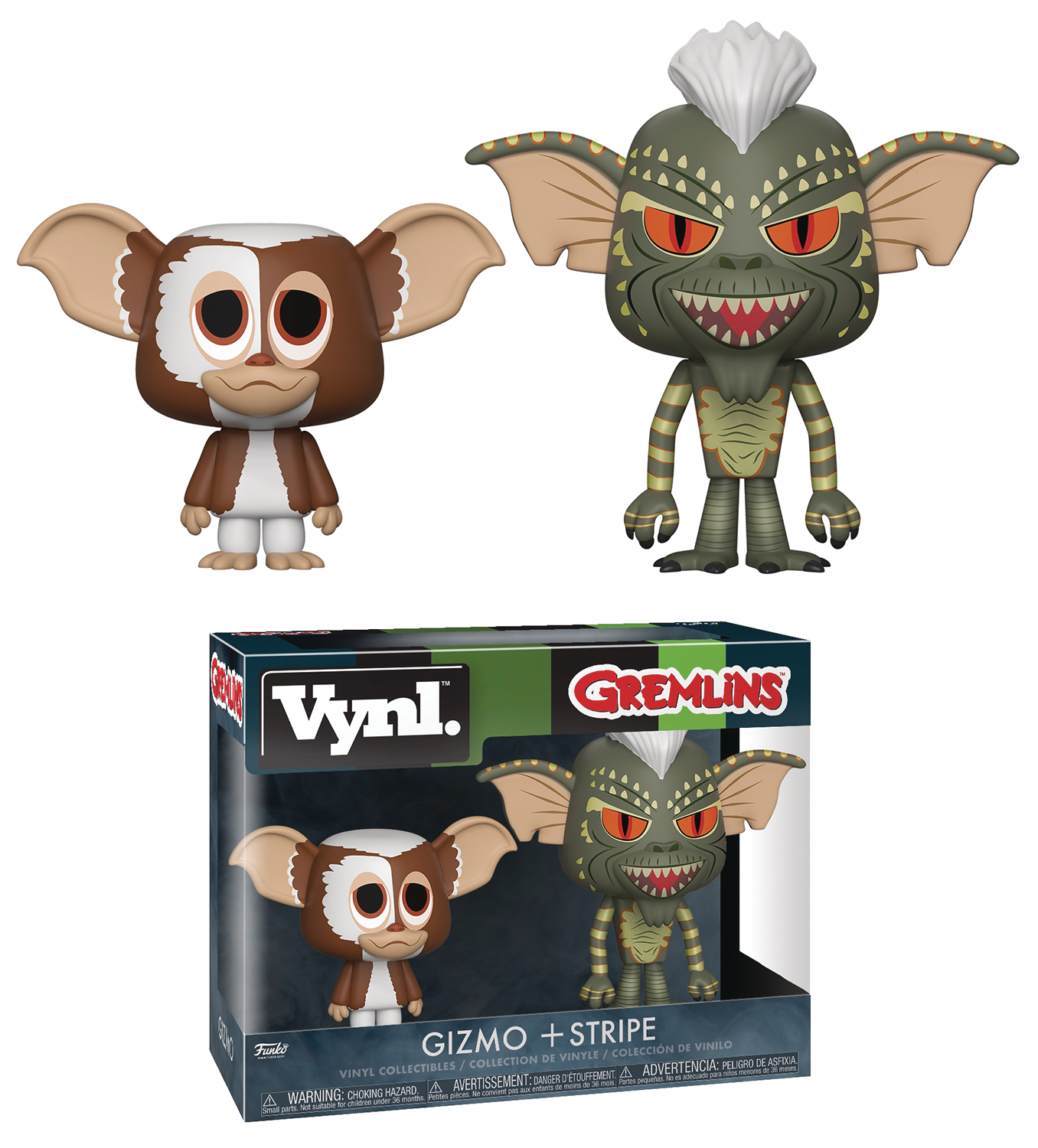 VYNL GREMLINS GIZMO & STRIPE VIN FIG 2PK (JUN188415)