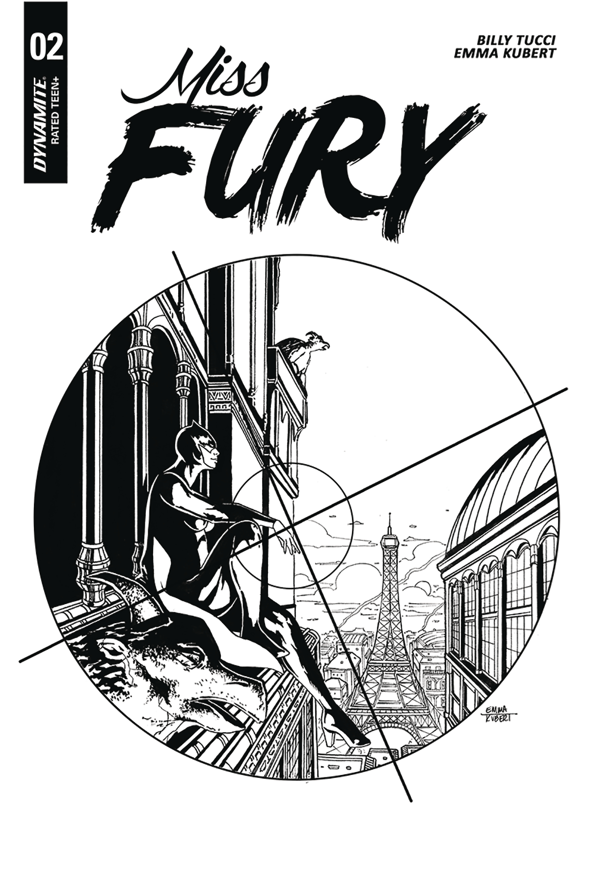 MISS FURY #2 10 COPY KUBERT B&W INCV