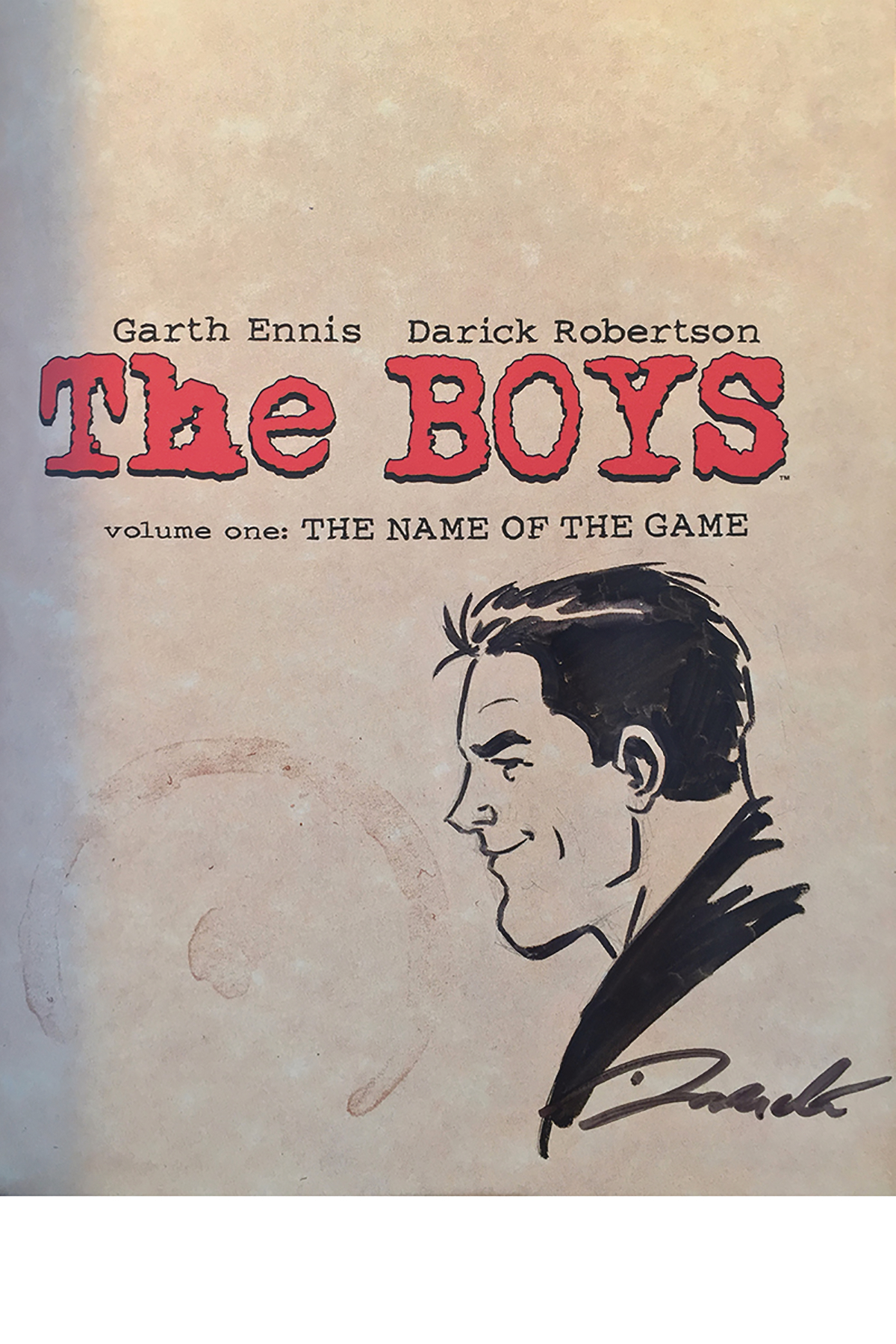 BOYS TP VOL 01 NAME OF THE GAME ROBERTSON REMARKED ED (MR) (