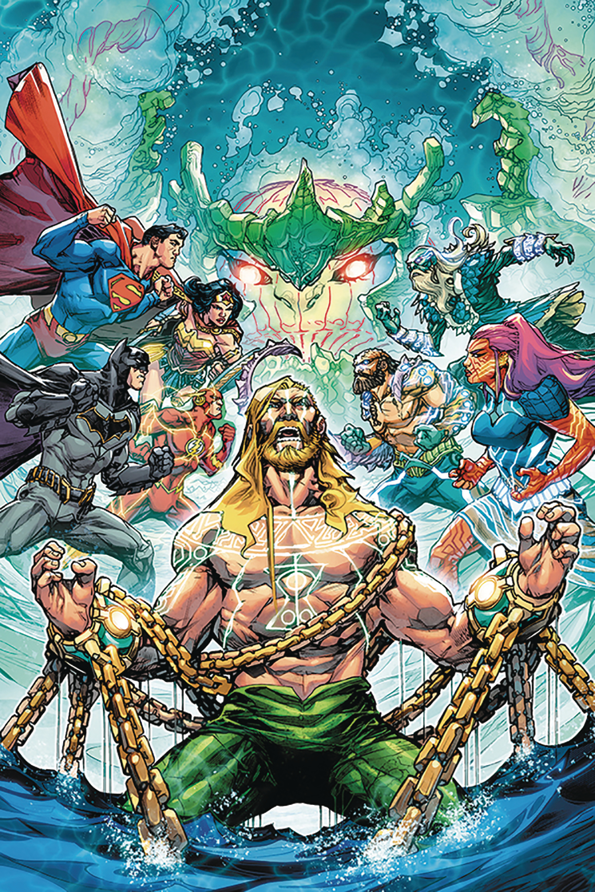 DF JUSTICE LEAGUE AQUAMAN PORTER SGN PLUS ONE