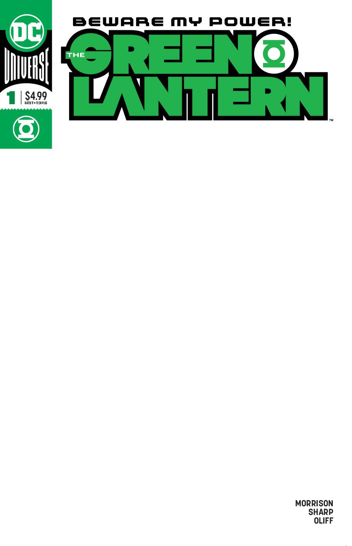 GREEN LANTERN #1 BLANK VAR ED