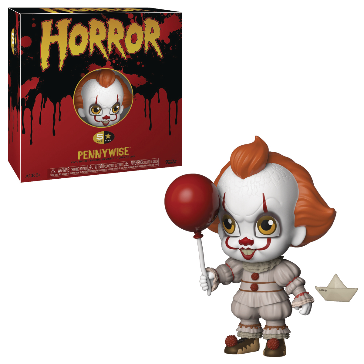 FUNKO 5 STAR HORROR PENNYWISE VINYL FIGURE