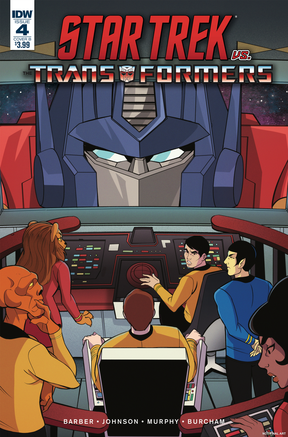 STAR TREK VS TRANSFORMERS #4 (OF 4) CVR B TRAMONTANO