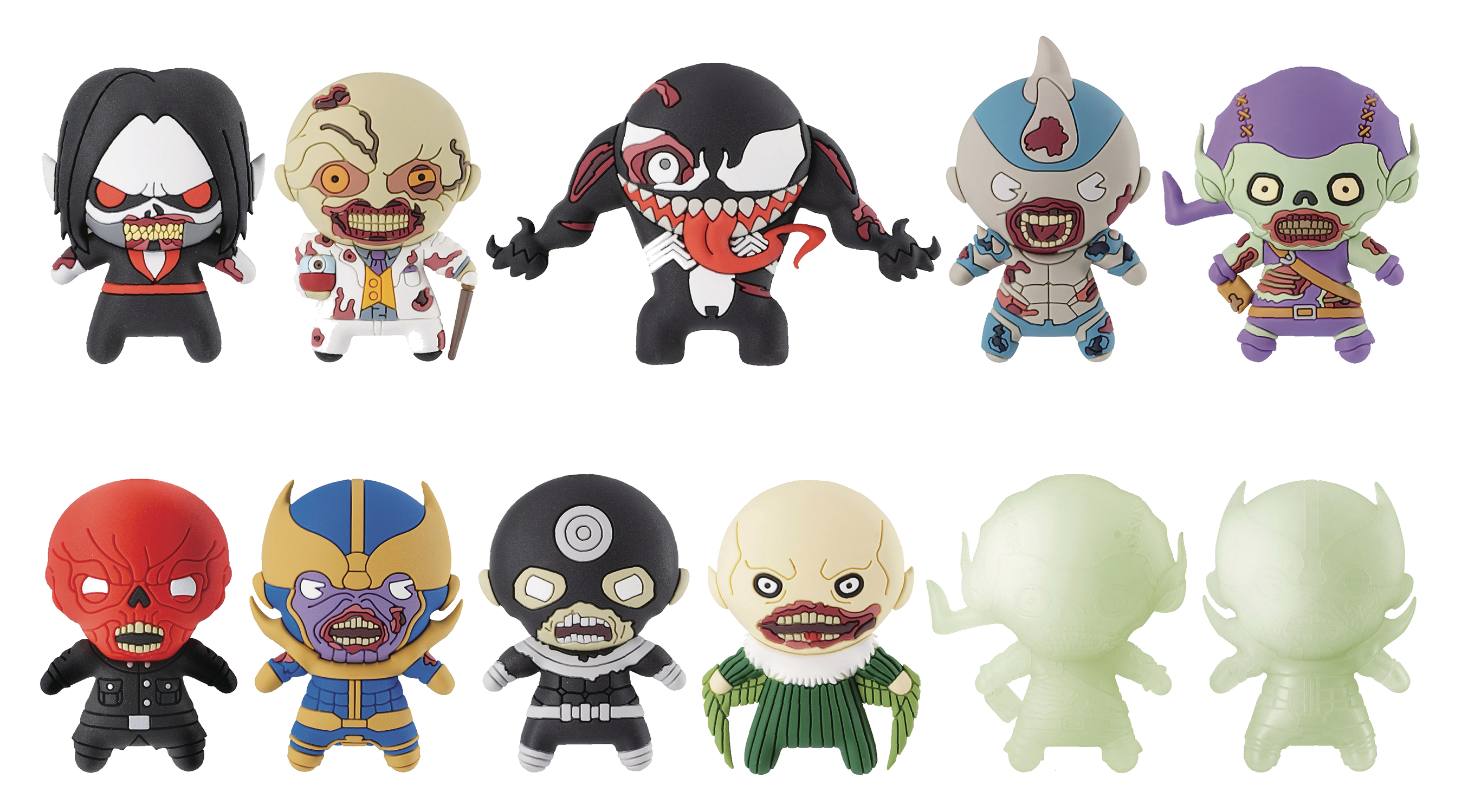 MARVEL ZOMBIES 3D FIGURAL KEYRING 24PC BMB DIS