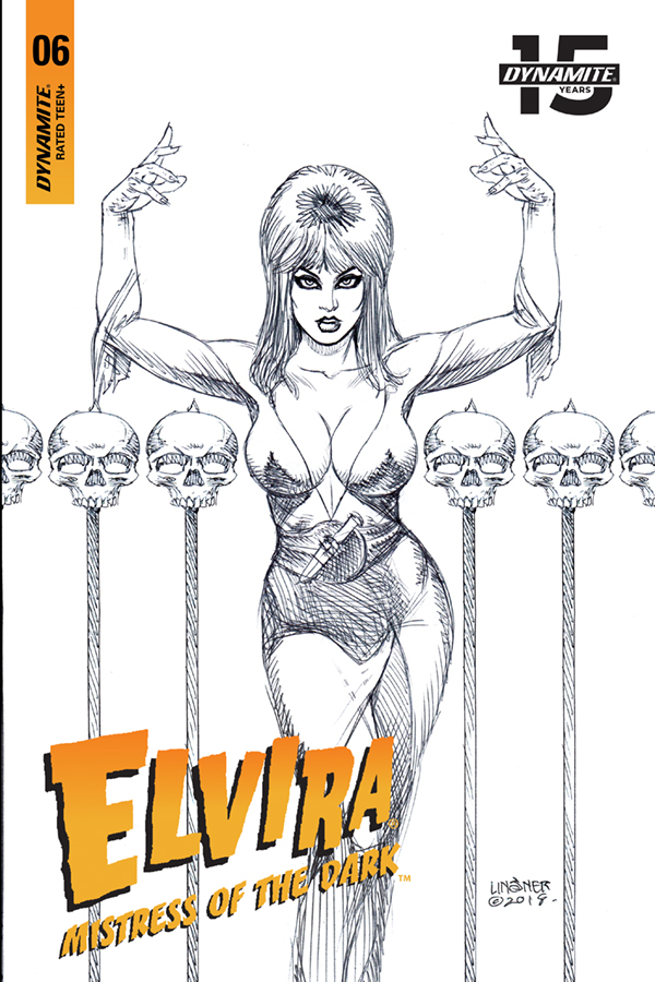 ELVIRA MISTRESS OF DARK #6 25 COPY LINSNER B&W INCV