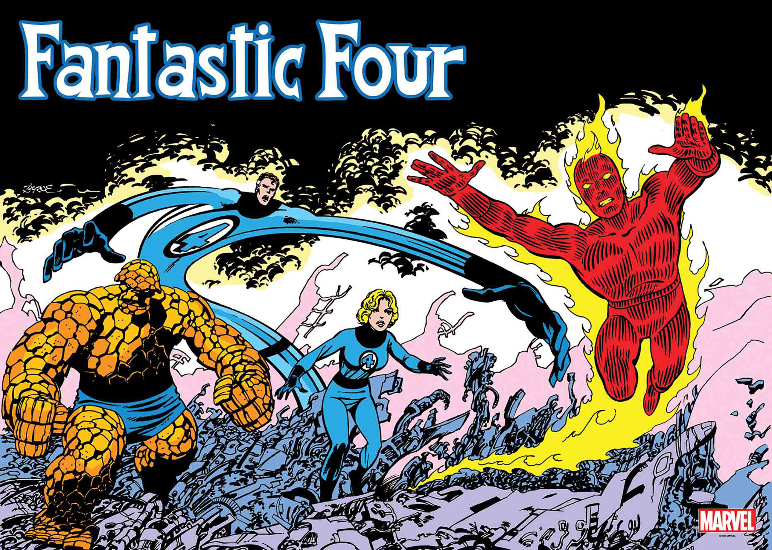 FANTASTIC FOUR OVERSIZED BY BYRNE VINYL POSTER