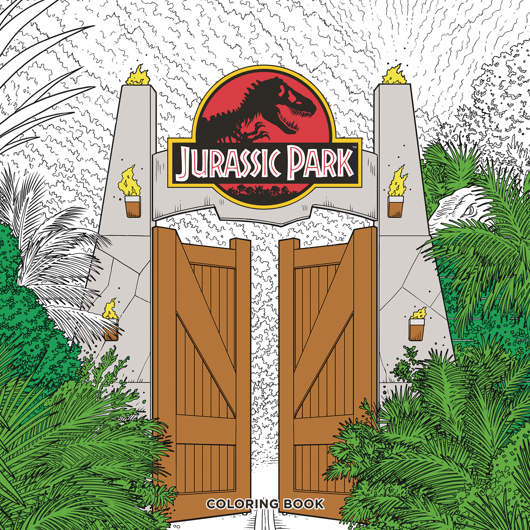 JURASSIC PARK ADULT COLORING BOOK TP