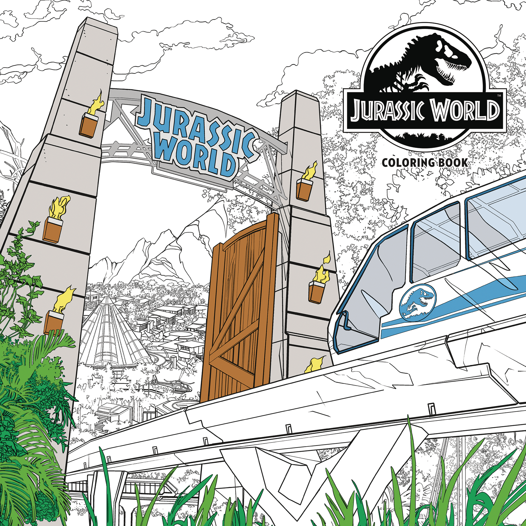 JURASSIC WORLD ADULT COLORING BOOK TP