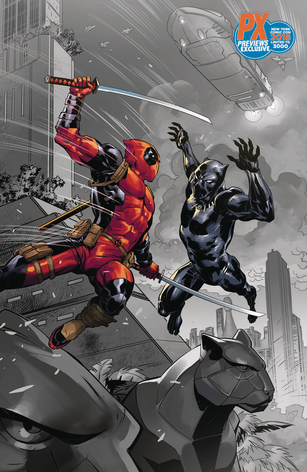NYCC 2018 BLACK PANTHER VS DEADPOOL #1 (OF 5) BENJAMIN VAR (