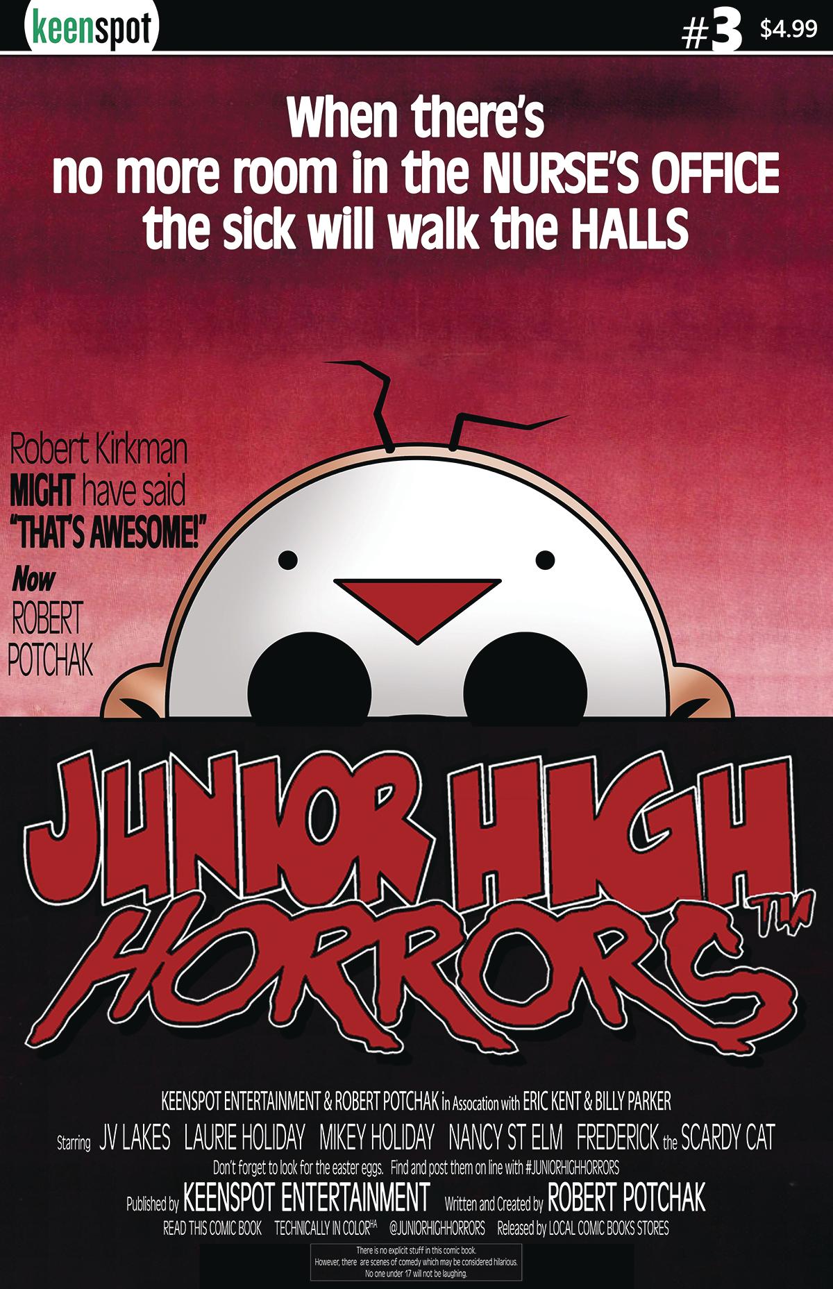 JUNIOR HIGH HORRORS #3 CVR B DAWN OF THE DEAD PARODY