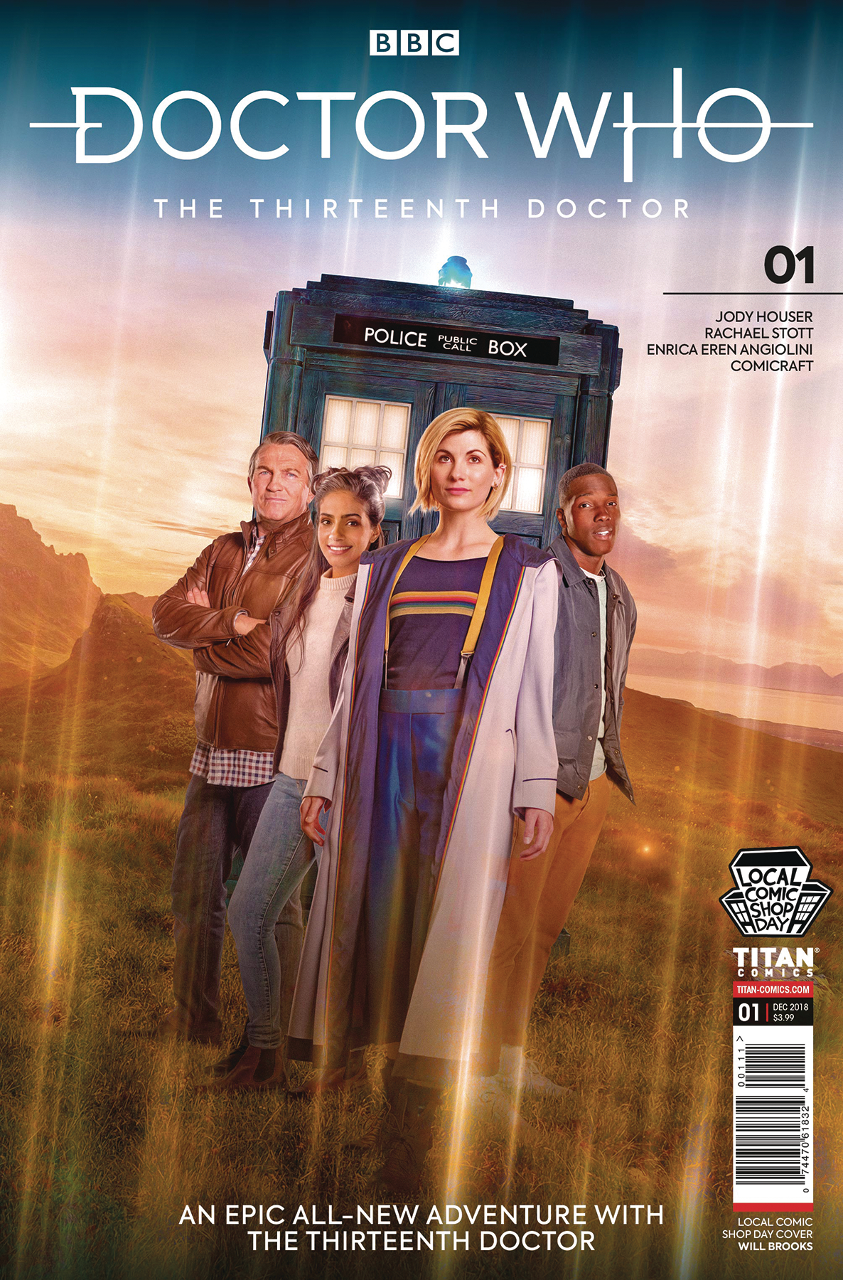 LCSD 2018 DOCTOR WHO 13TH DOCTOR #1 SET
